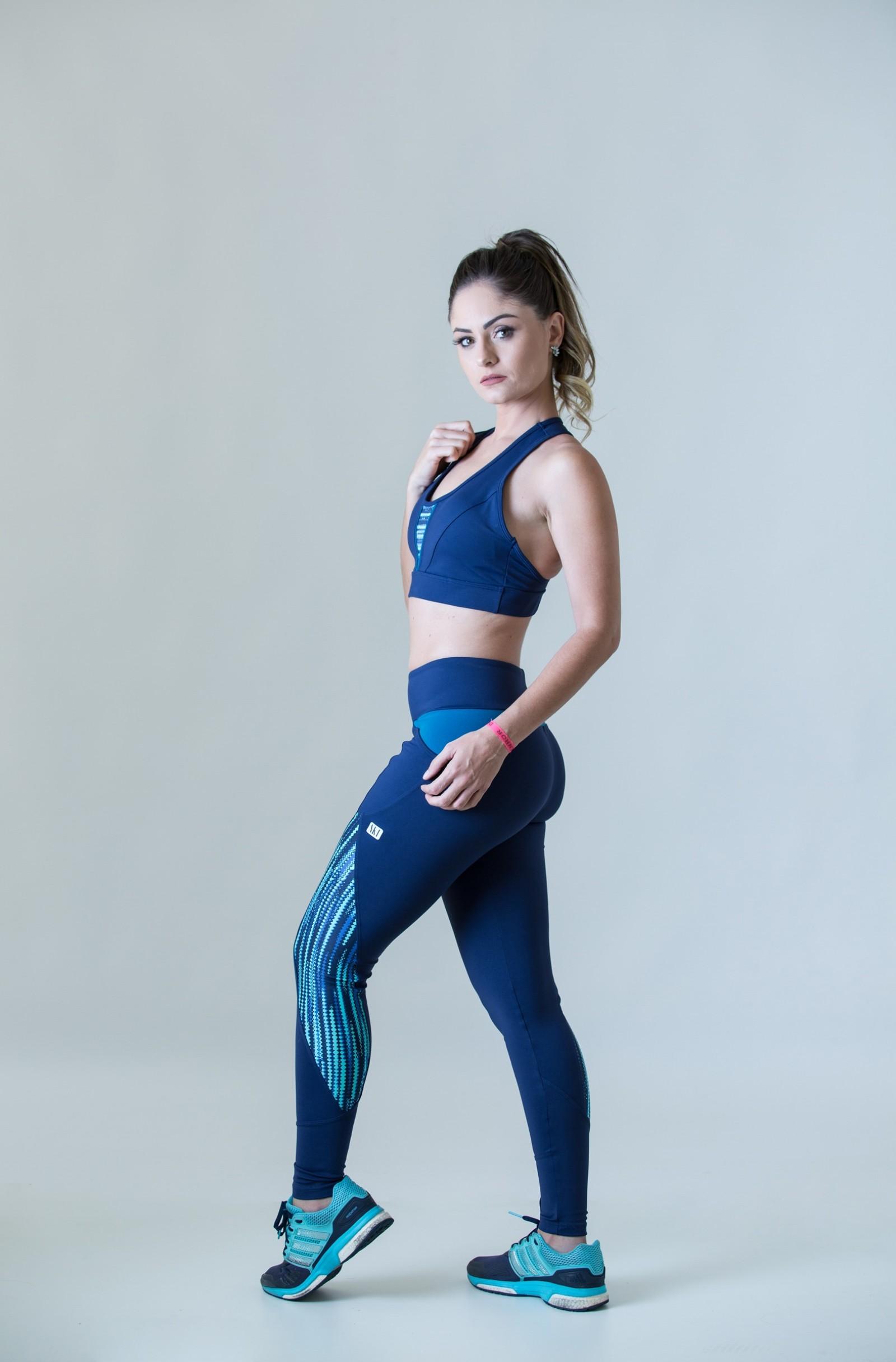 Legging Freedom Marinho, Coleção Plenitude - NKT Fitwear Moda Fitness