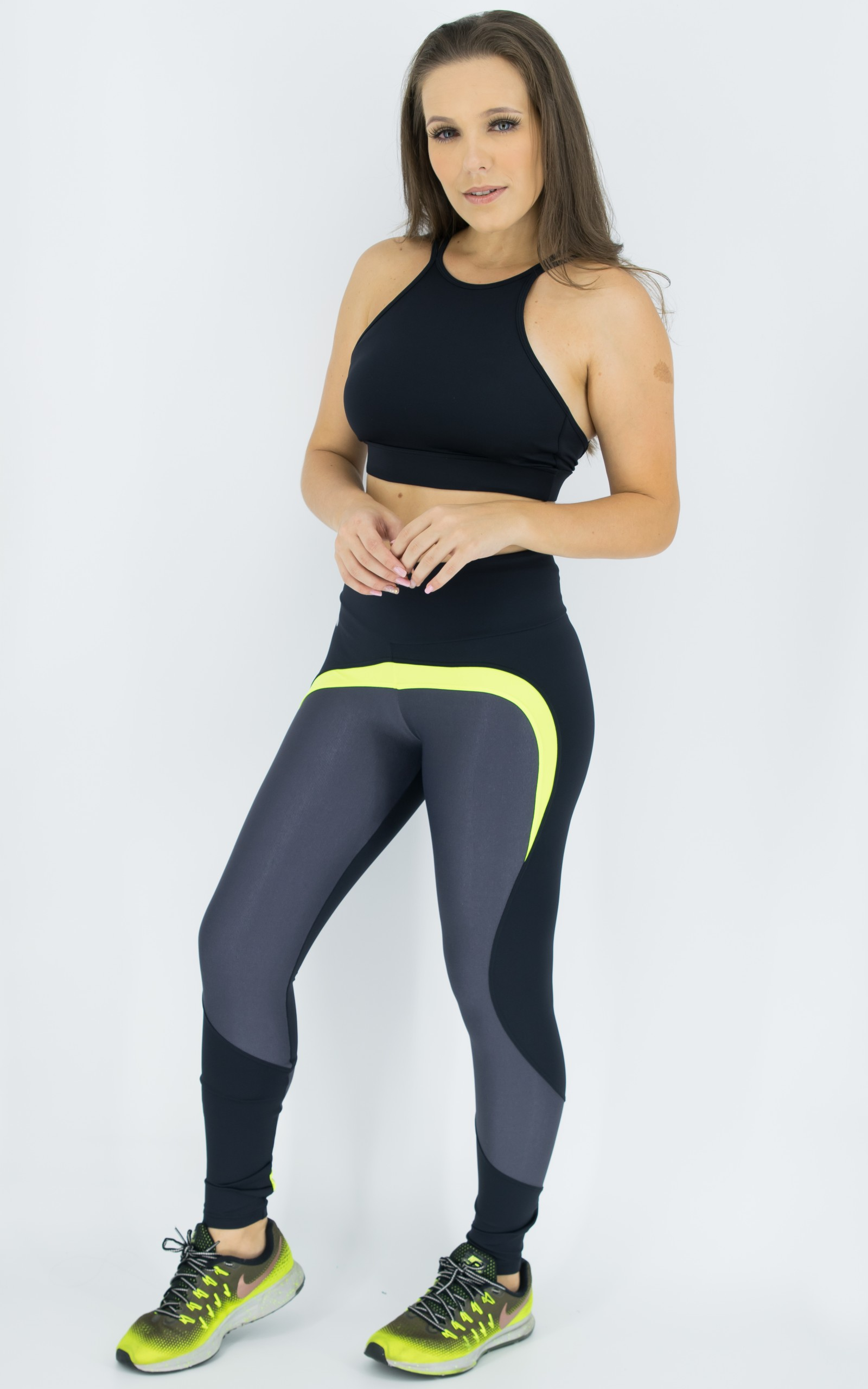 Legging Ocean Neon, Coleção Move Your Body - NKT Fitwear Moda Fitness