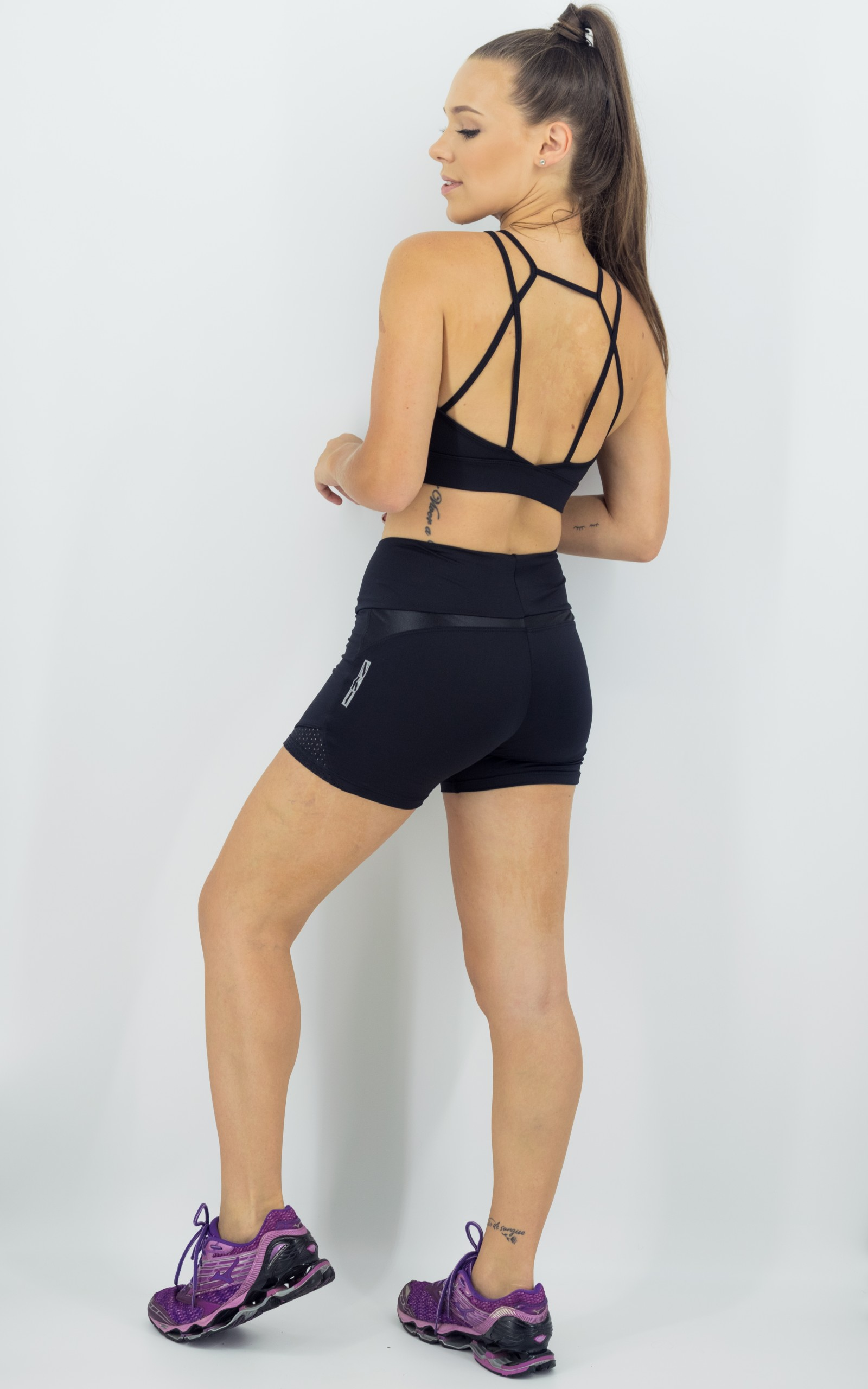 Shorts Life Confort Preto, Coleção Move Your Body - NKT Fitwear Moda Fitness