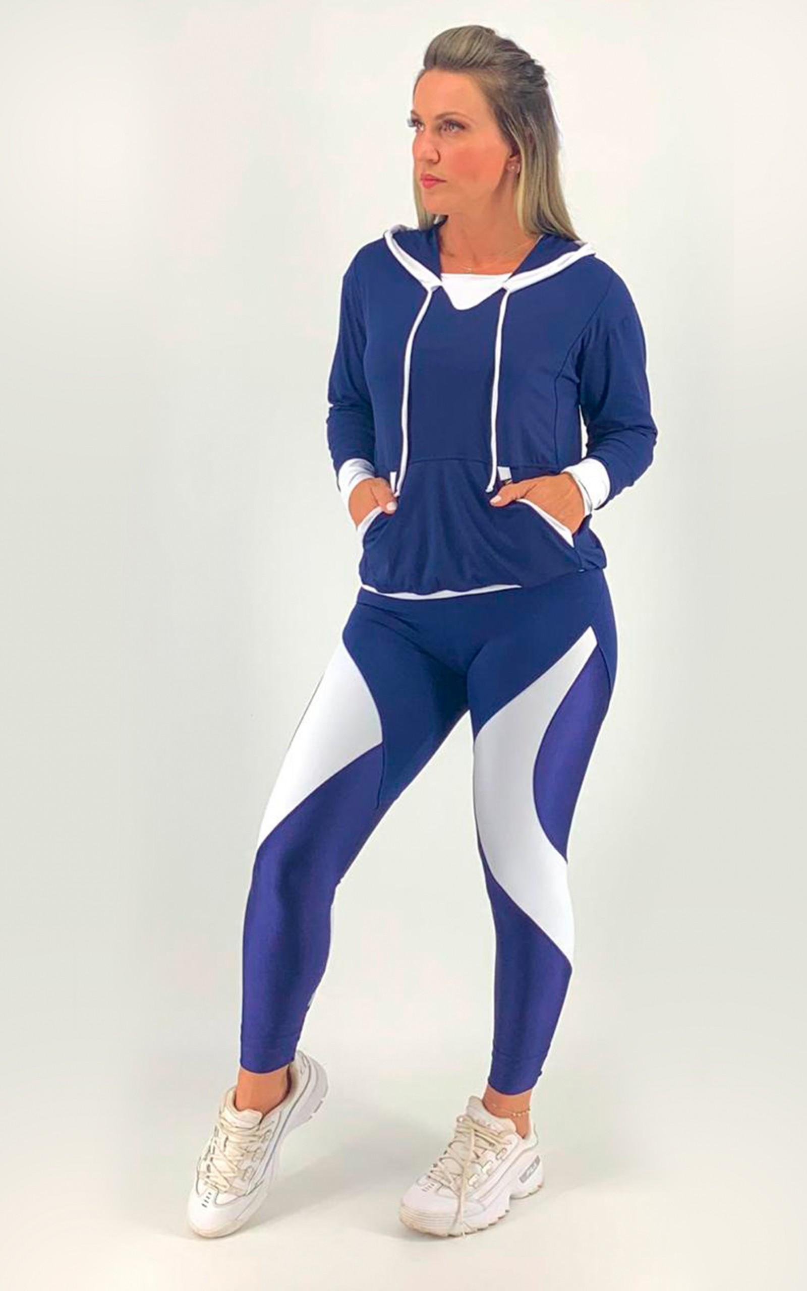 Casaco Duo Marinho, Coleção Move Your Body - NKT Fitwear Moda Fitness