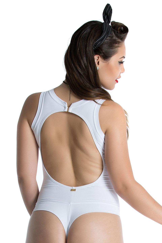 Body Nude Branco, Coleção Mulheres Reais - NKT Fitwear Moda Fitness