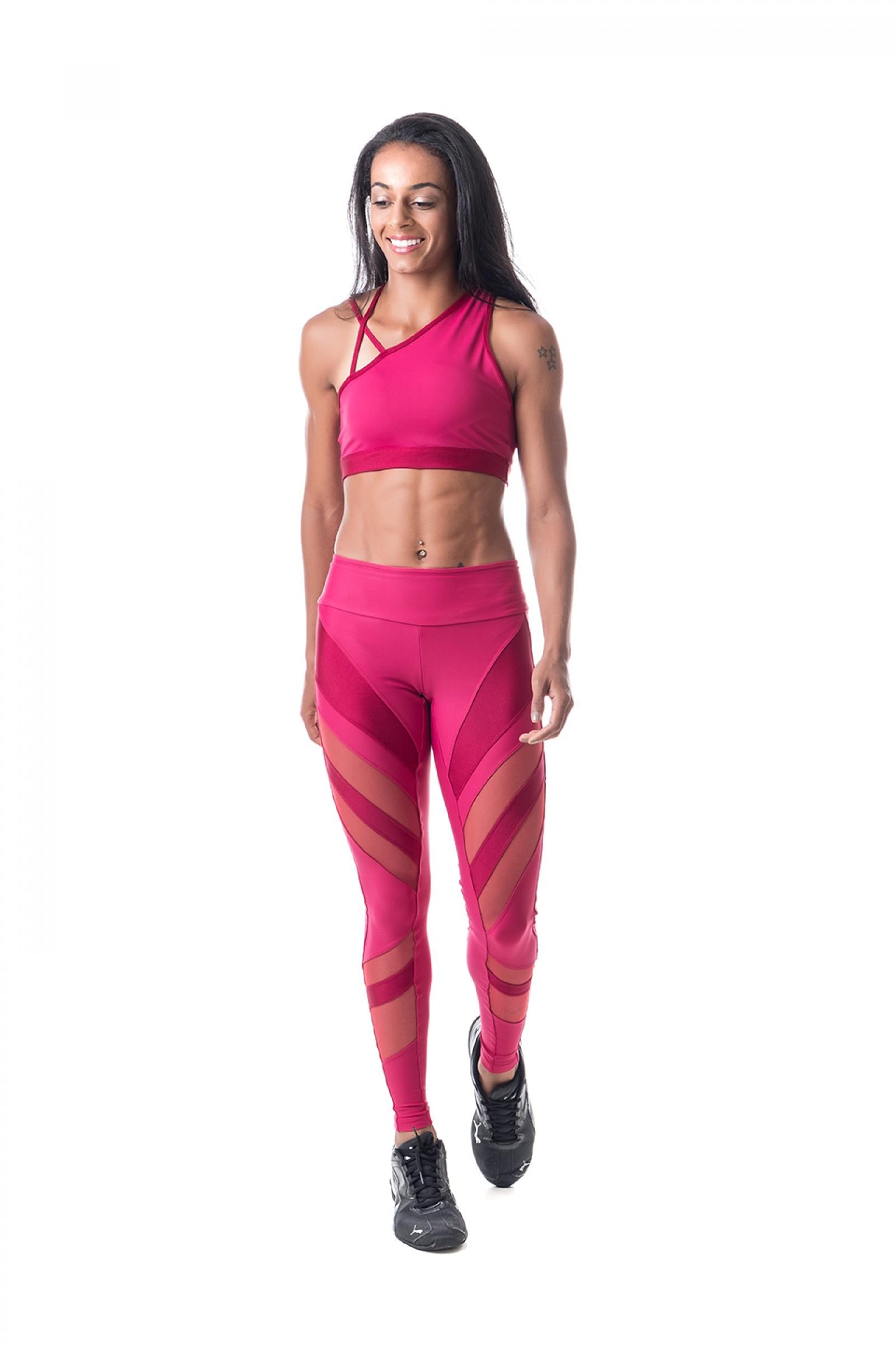 Legging Instigate Marsala, Coleção Challenge - NKT Fitwear Moda Fitness