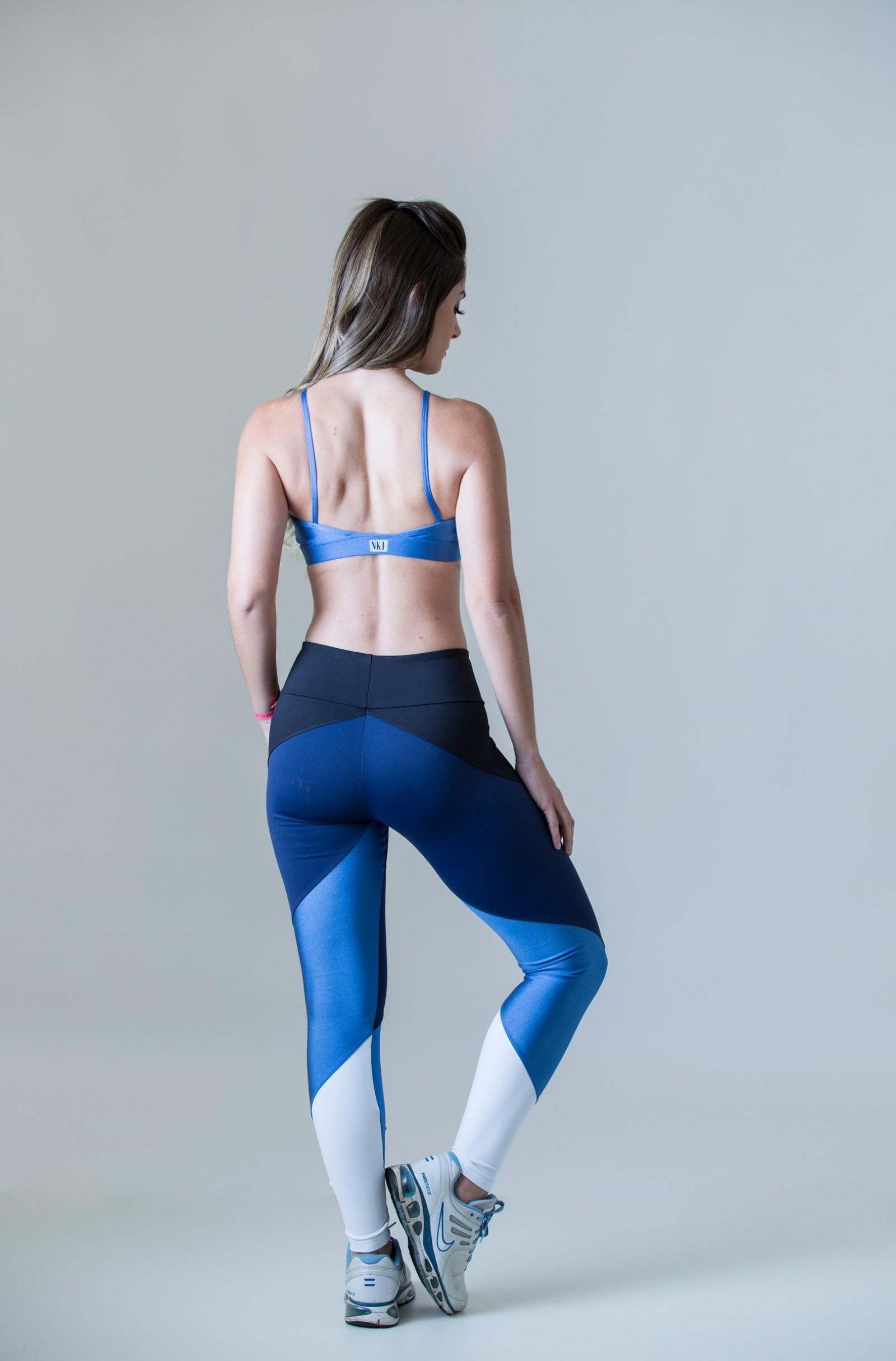 Legging Profusion Marinho, Coleção Plenitude - NKT Fitwear Moda Fitness