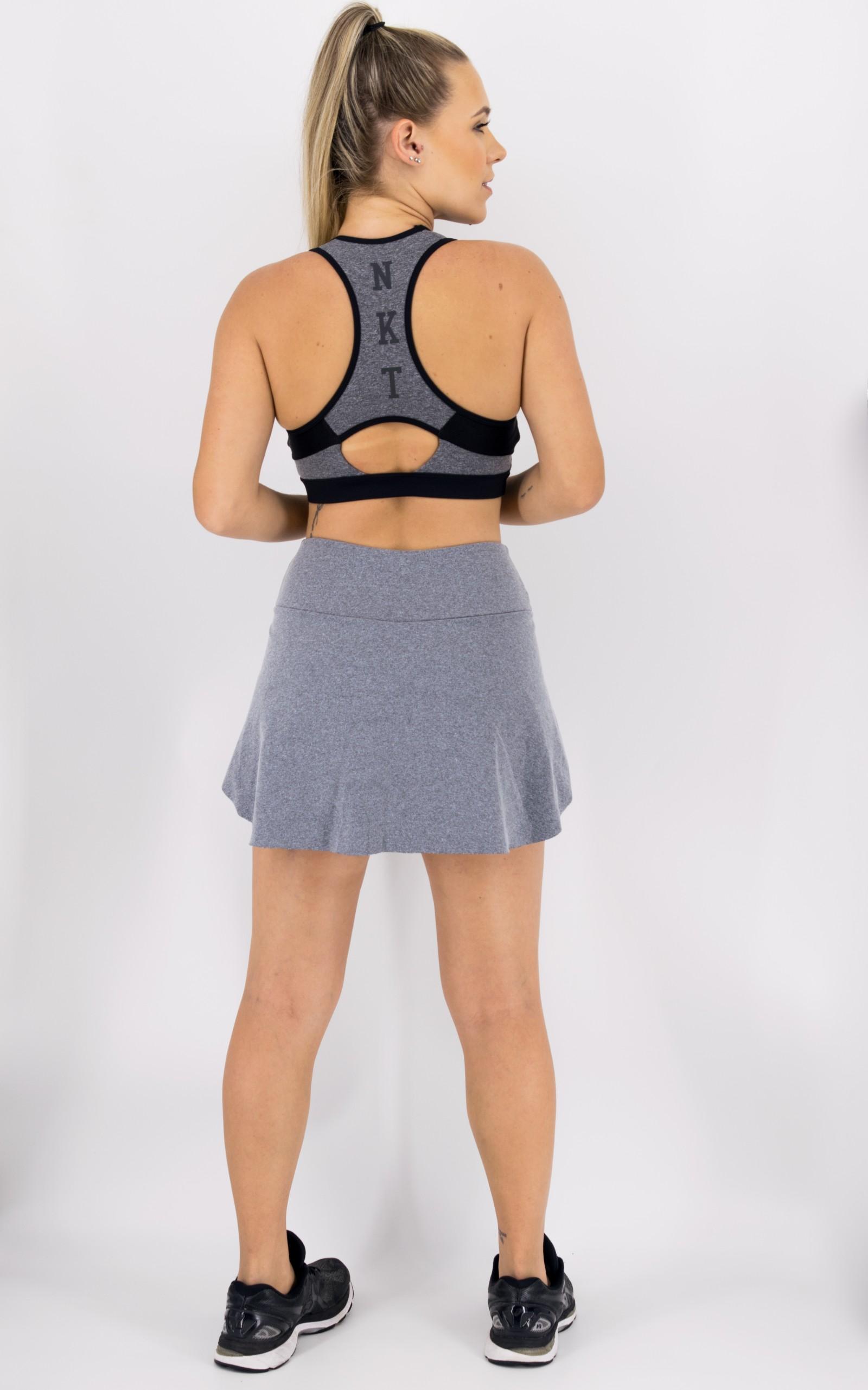 Top logo NKT Mescla, Coleção Move Your Body - NKT Fitwear Moda Fitness