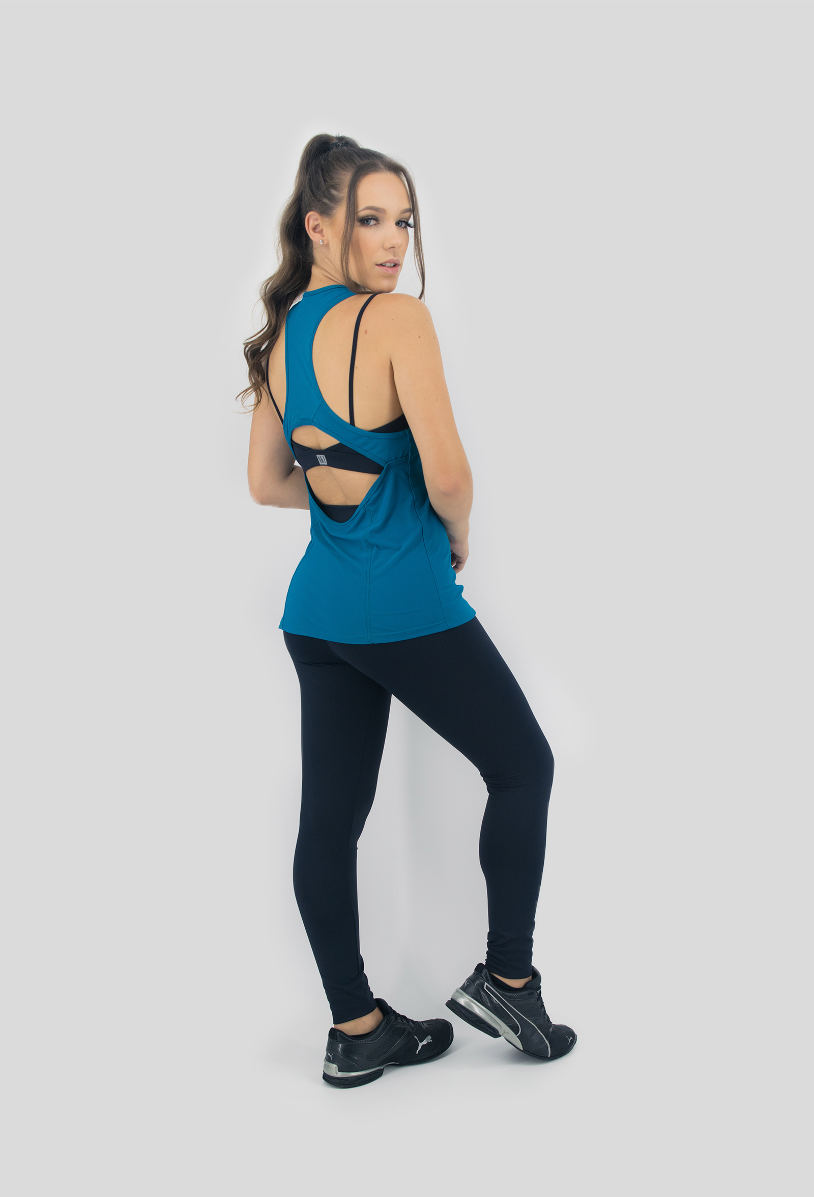 Regata Clipping Petróleo, Coleção Move Your Body - NKT Fitwear Moda Fitness
