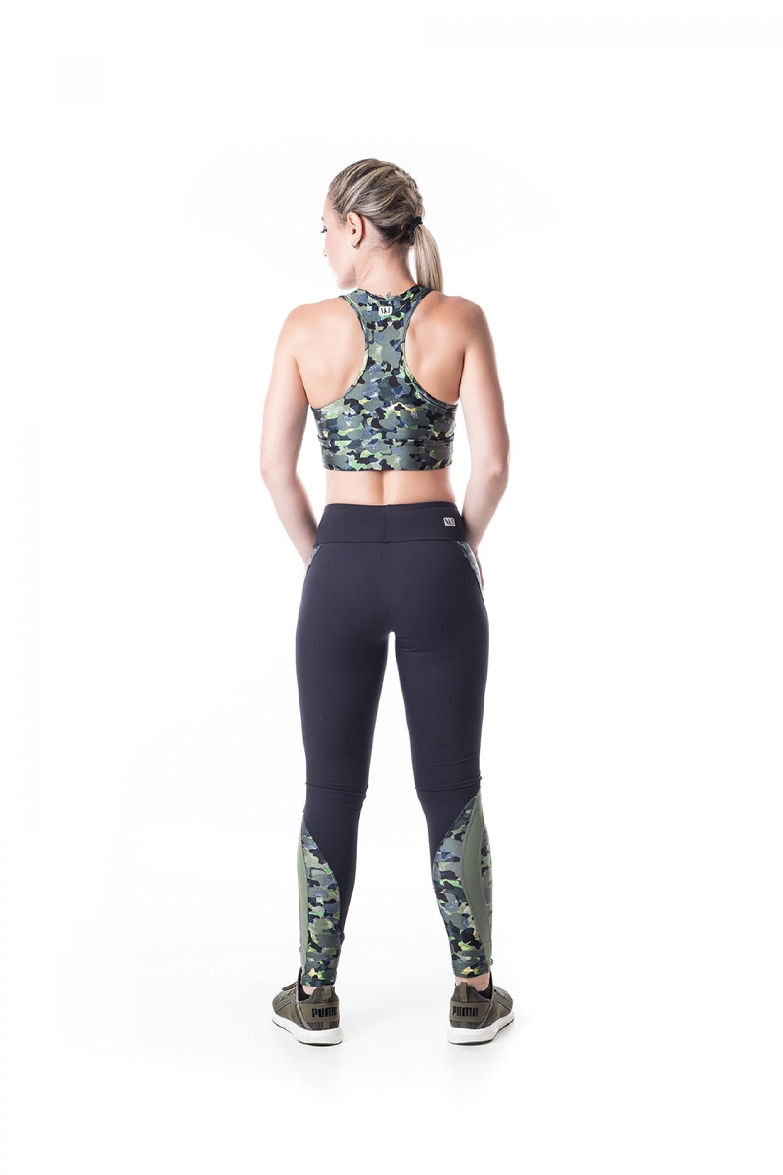 Cropped Lead Camuflado, Coleção Challenge - NKT Fitwear Moda Fitness