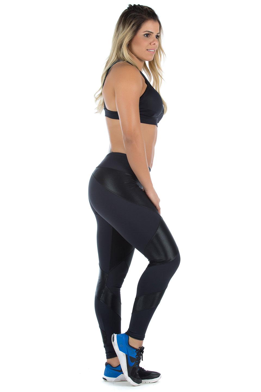 Legging Fearless Preto, Coleção Mulheres Reais - NKT Fitwear Moda Fitness