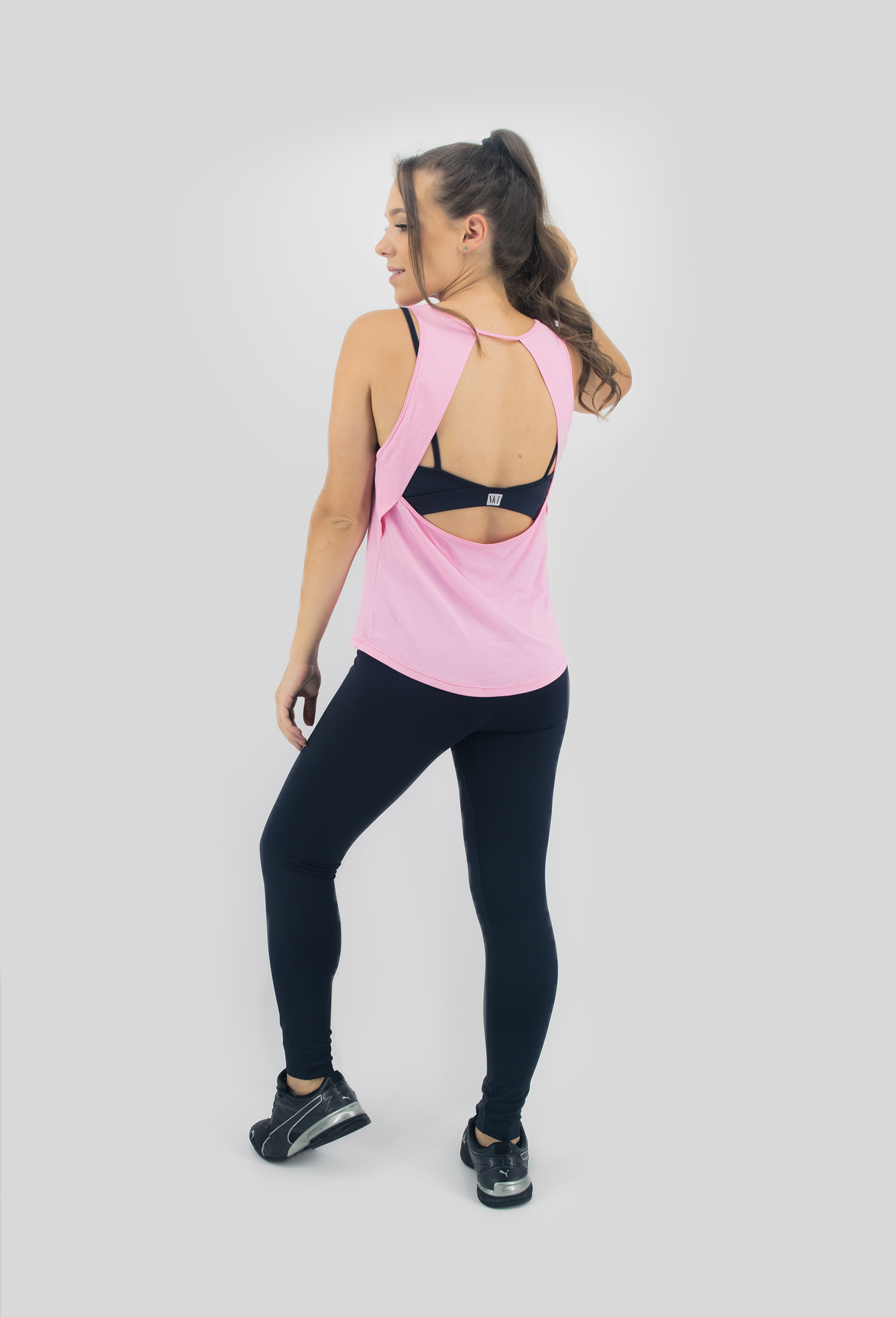 Regata Lux Rosa, Coleção Move Your Body - NKT Fitwear Moda Fitness