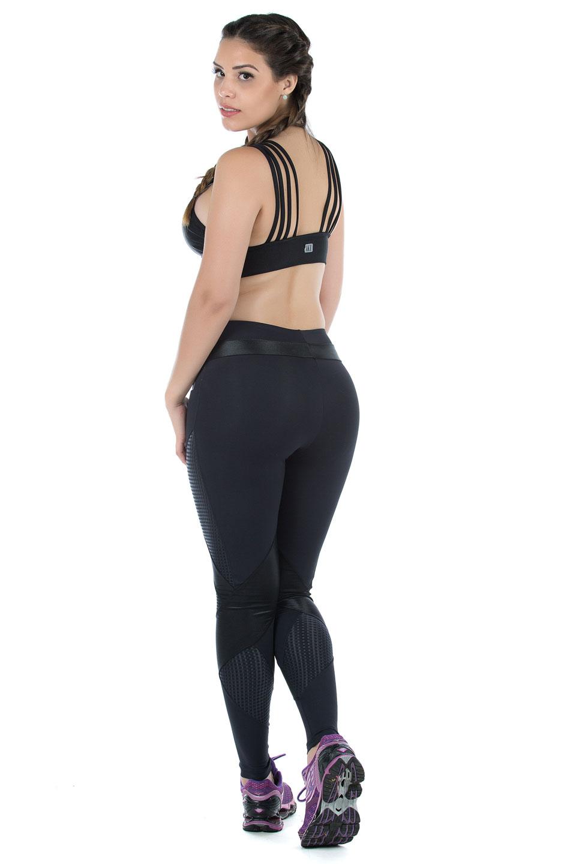 Legging Fun Preto, Coleção Mulheres Reais - NKT Fitwear Moda Fitness