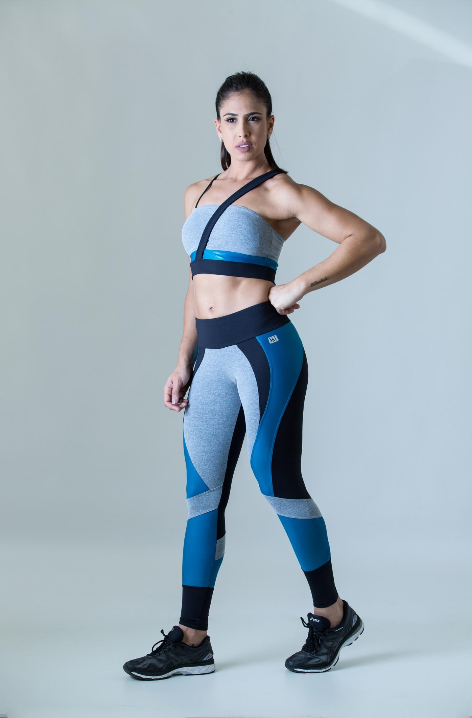Legging Fullness Petróleo, Coleção Plenitude - NKT Fitwear Moda Fitness