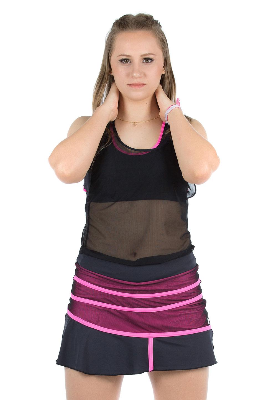 Saia Shorts Conceito Pink, Coleção Mulheres Reais - NKT Fitwear Moda Fitness