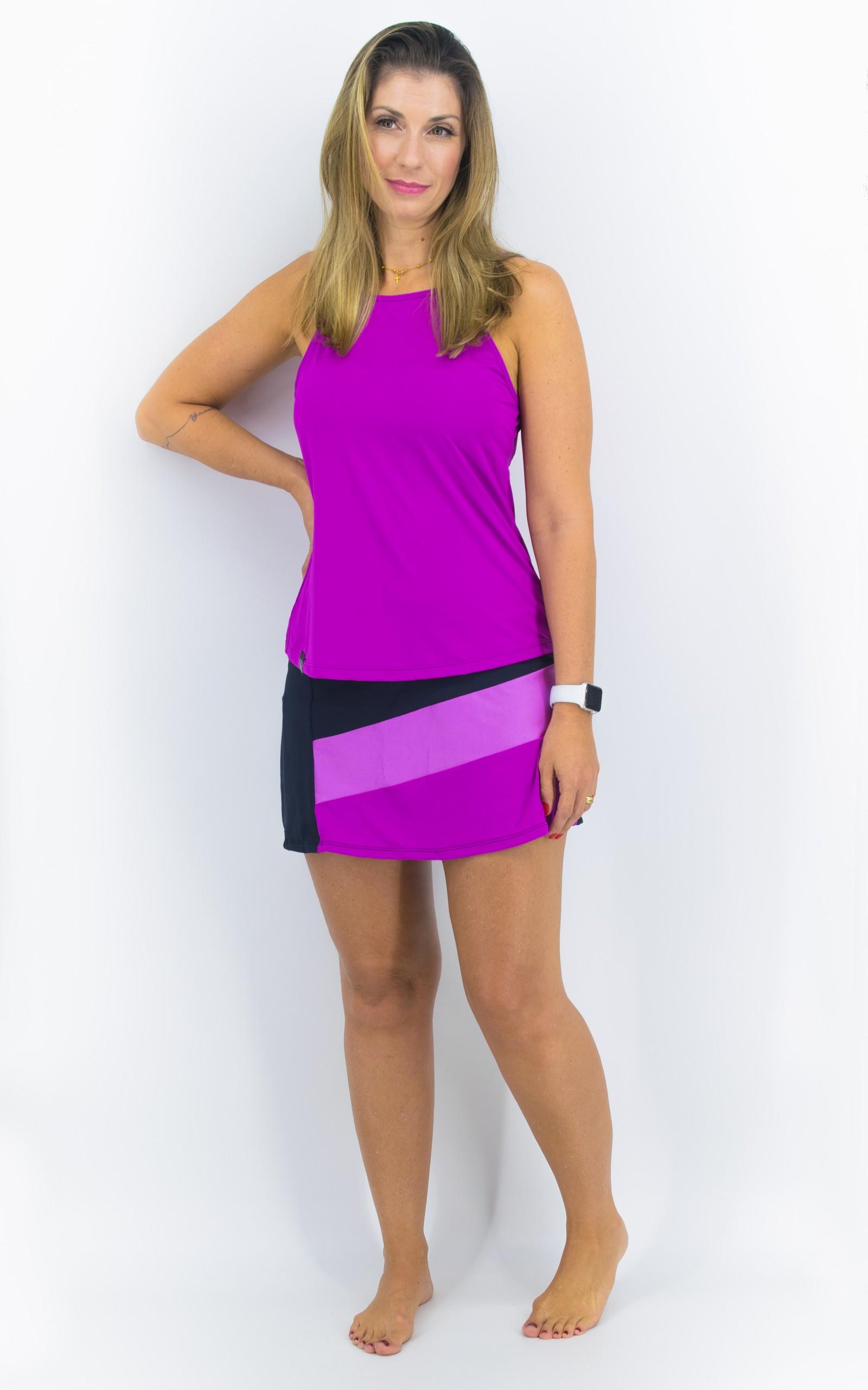 Saia Shorts Spring Fúcsia, Coleção YOURSELF - NKT Fitwear Moda Fitness