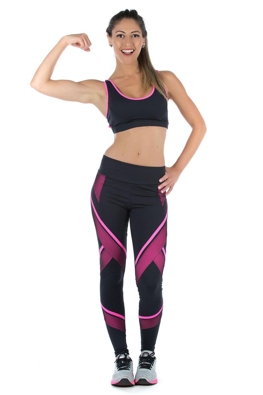Legging Power Full Pink, Coleção Mulheres Reais - NKT Fitwear Moda Fitness