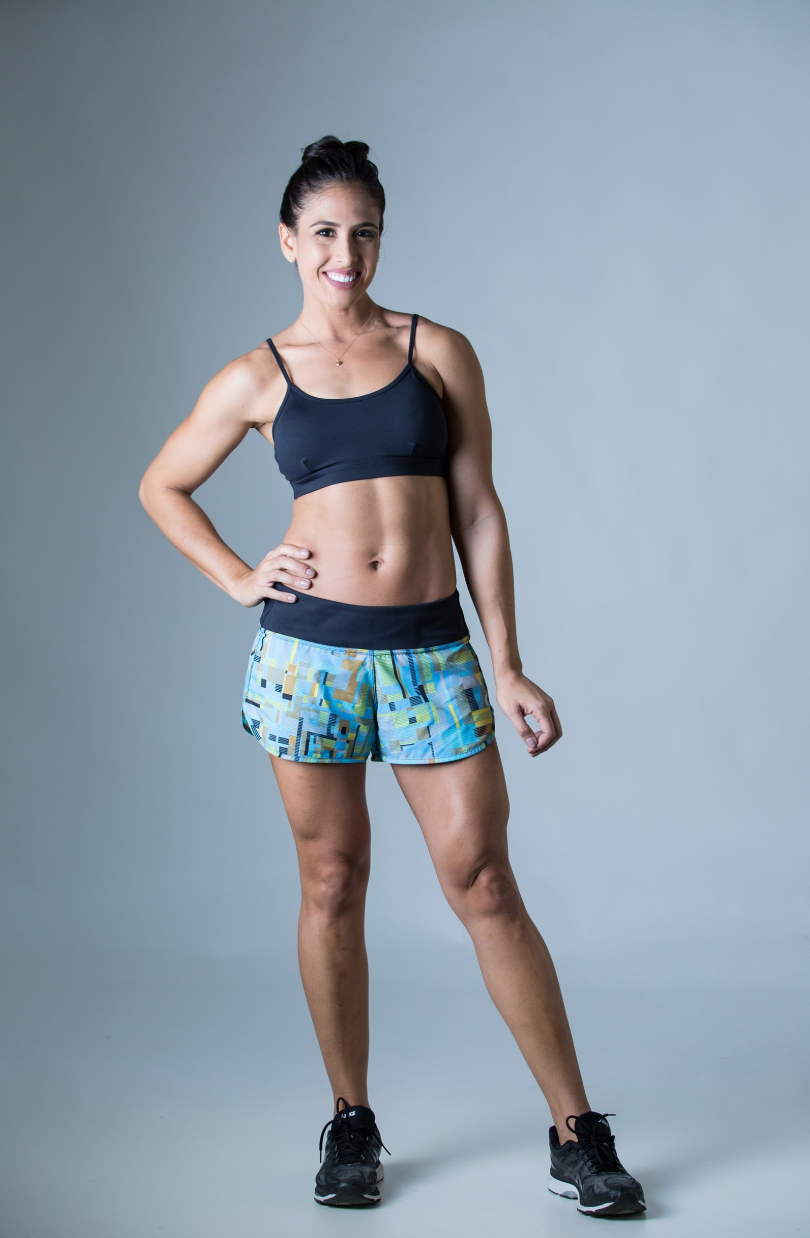 Shorts Only Estampado Turquesa, Coleção Plenitude - NKT Fitwear Moda Fitness