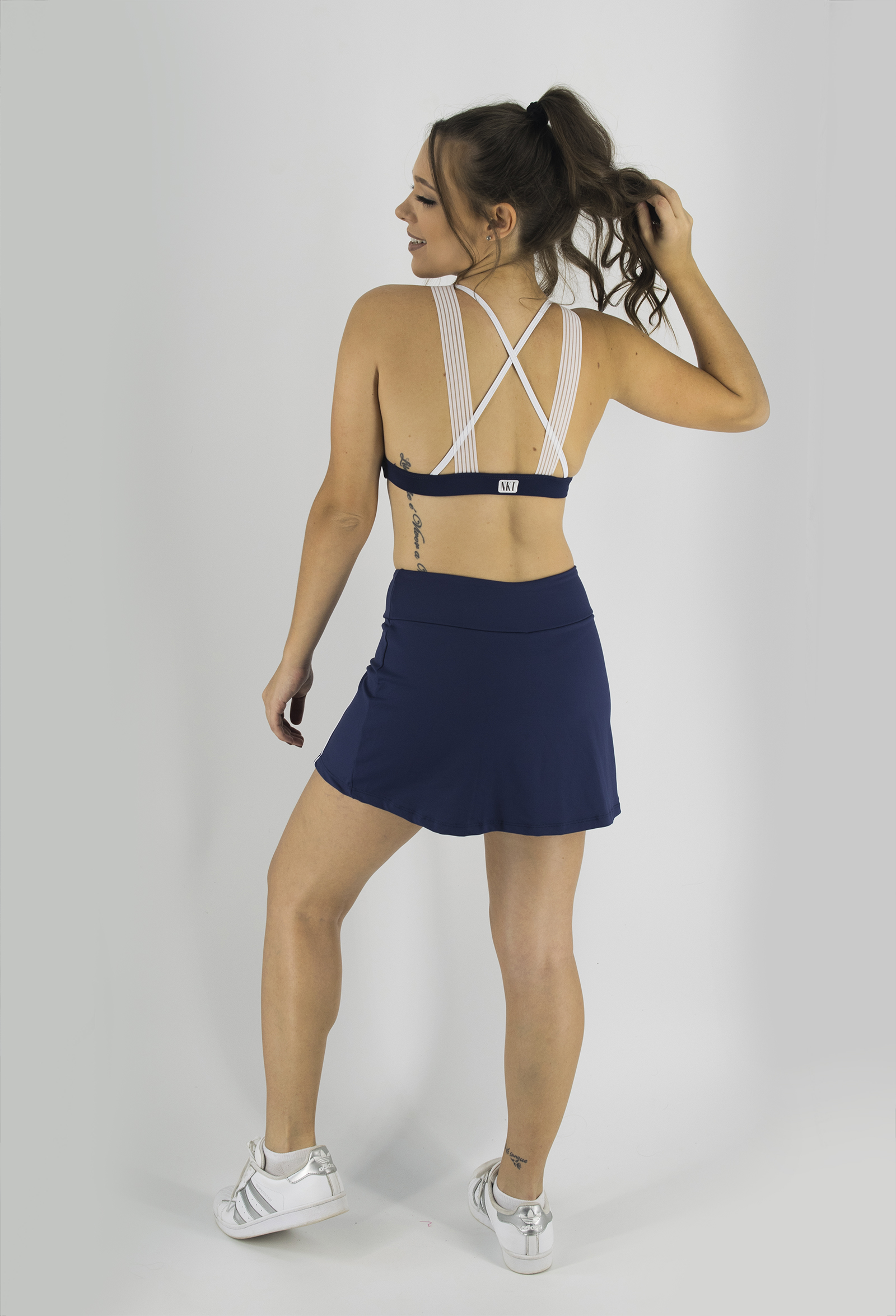 Top Fabulous Marinho, Coleção Just For You - NKT Fitwear Moda Fitness