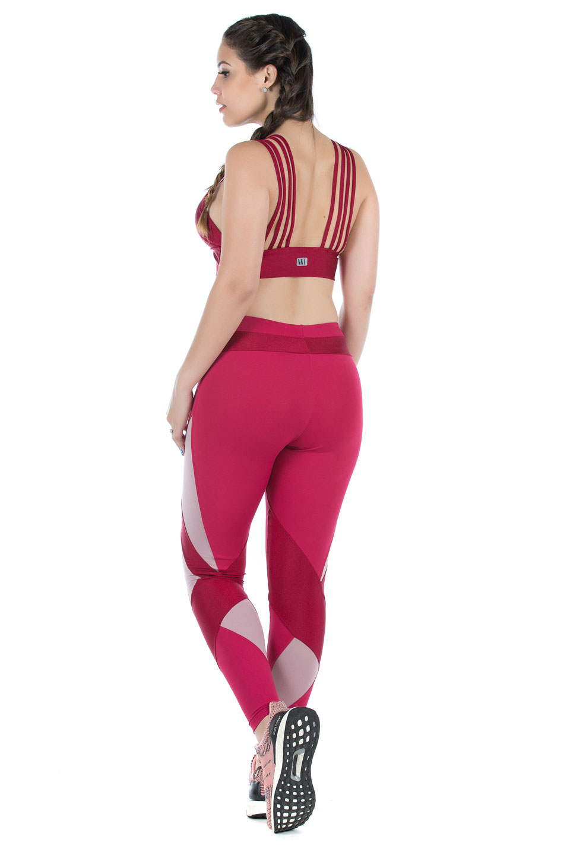 Legging Fun Marsala, Coleção Mulheres Reais - NKT Fitwear Moda Fitness