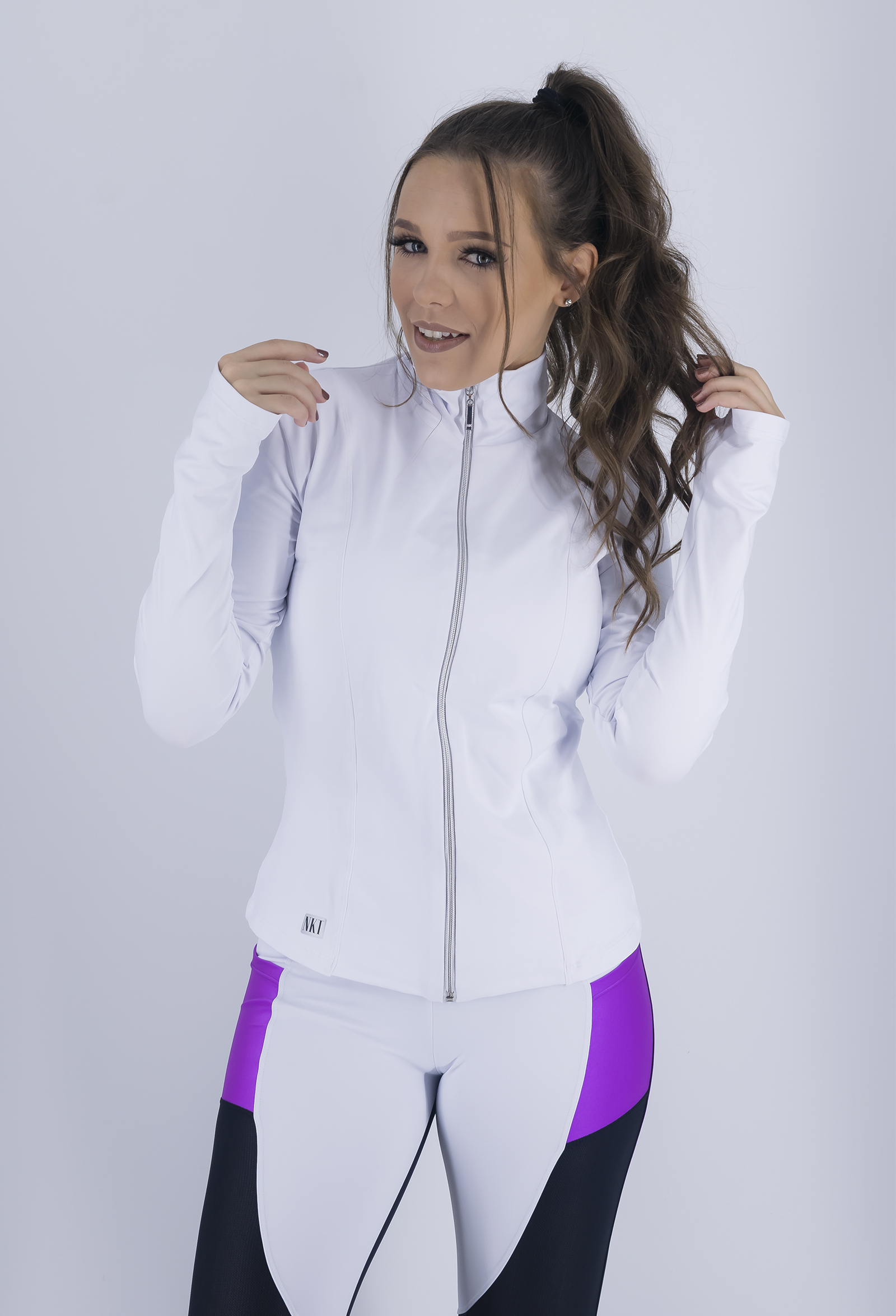 Casaco Conect Branco, Coleção Just For You - NKT Fitwear Moda Fitness