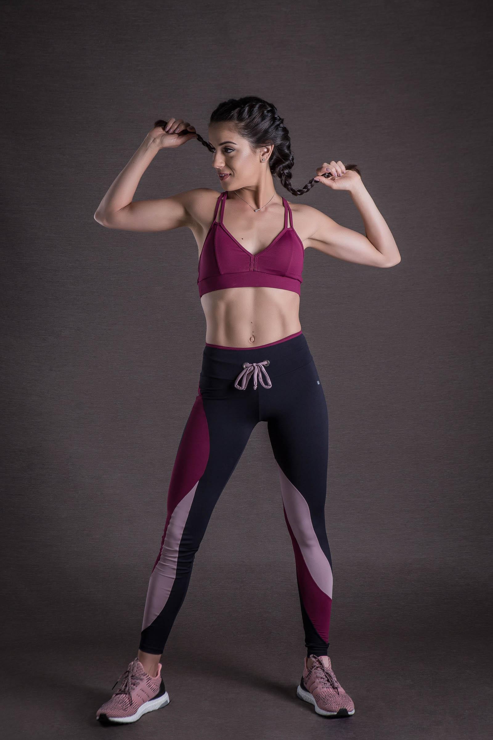 Top Evolution Vinho, Coleção You can - NKT Fitwear Moda Fitness