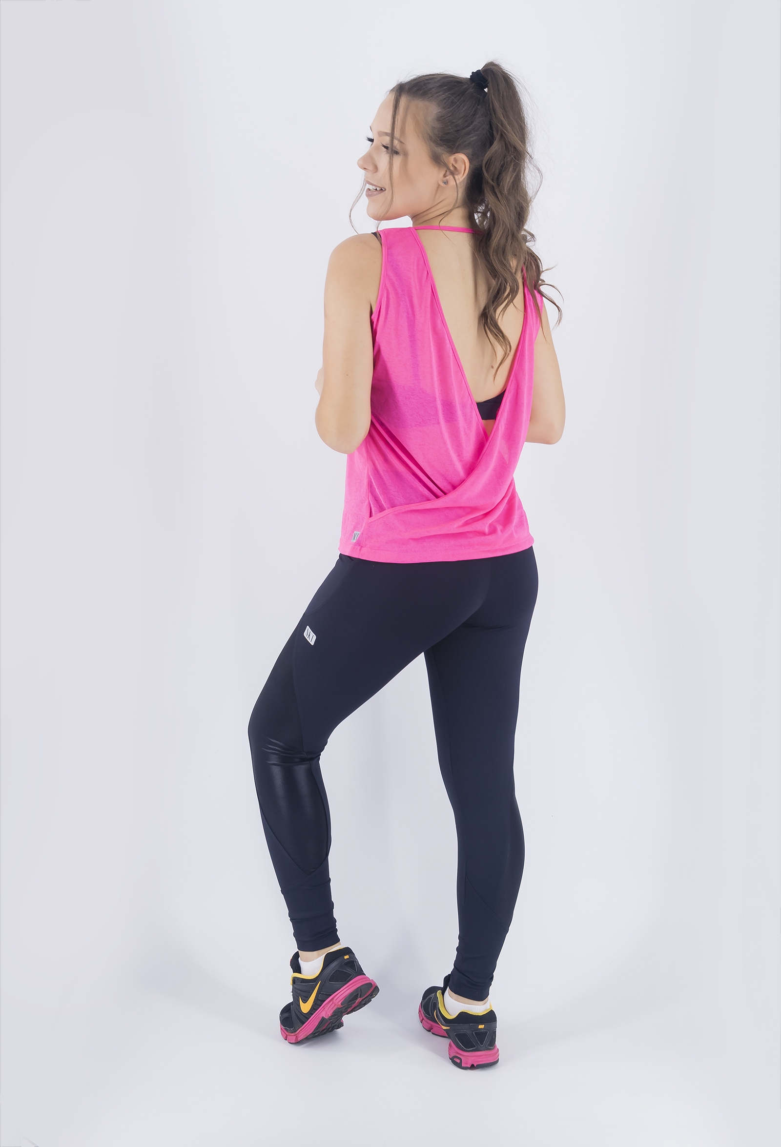 Regata Unique Pink New, Coleção Just For You - NKT Fitwear Moda Fitness