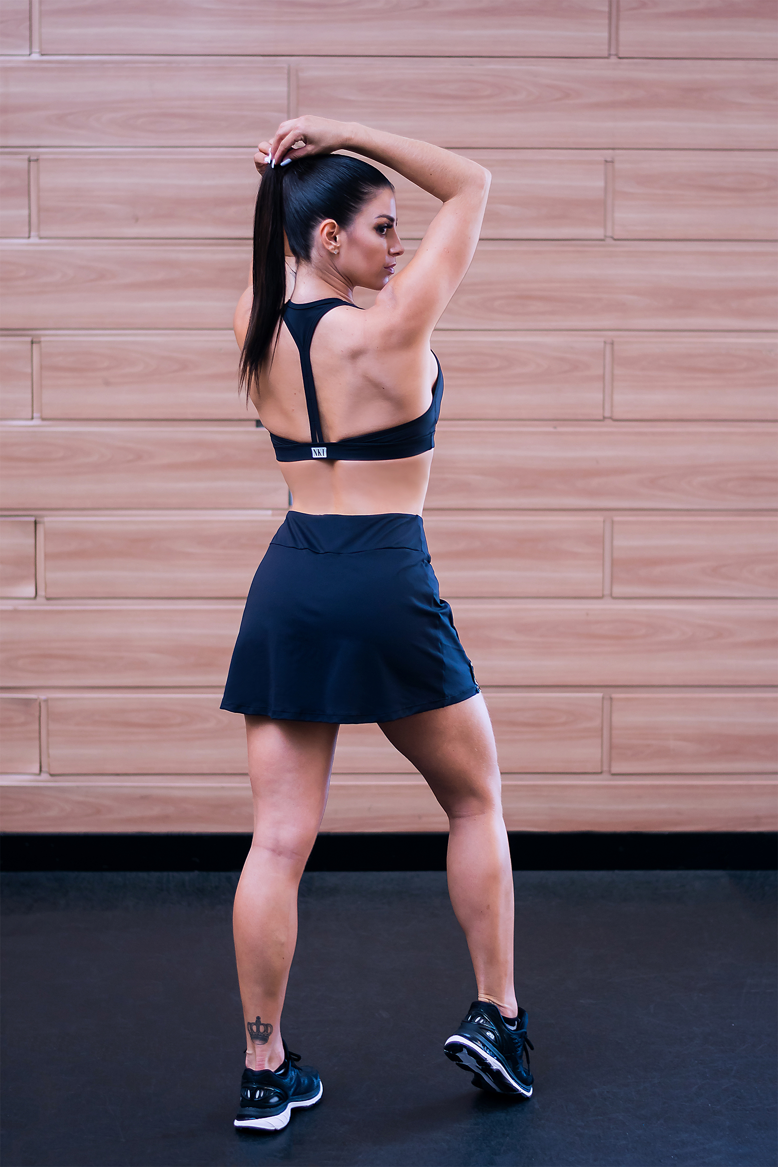 Cropped New Only Preto Maxxi, Coleção Just For You - Animal Print - NKT Fitwear Moda Fitness