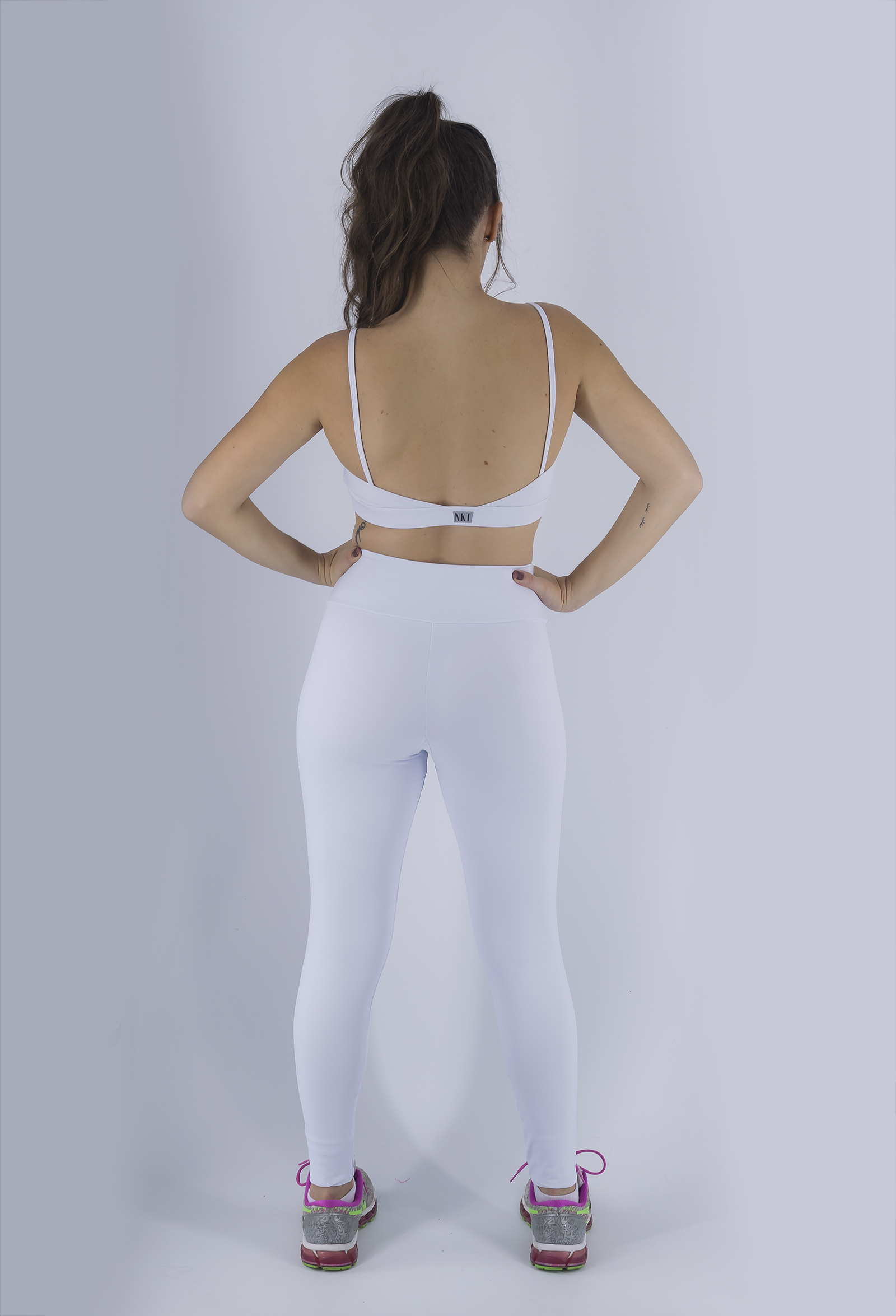 Top Profusion Branco, Coleção Just For You - NKT Fitwear Moda Fitness
