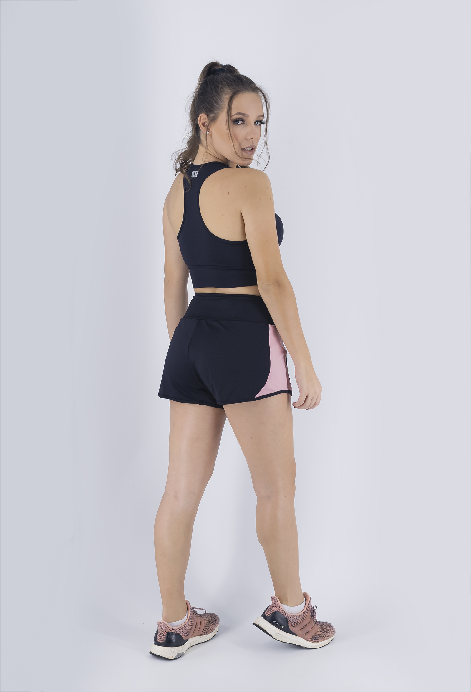 Cropped Lead Preto, Coleção Just For You - NKT Fitwear Moda Fitness
