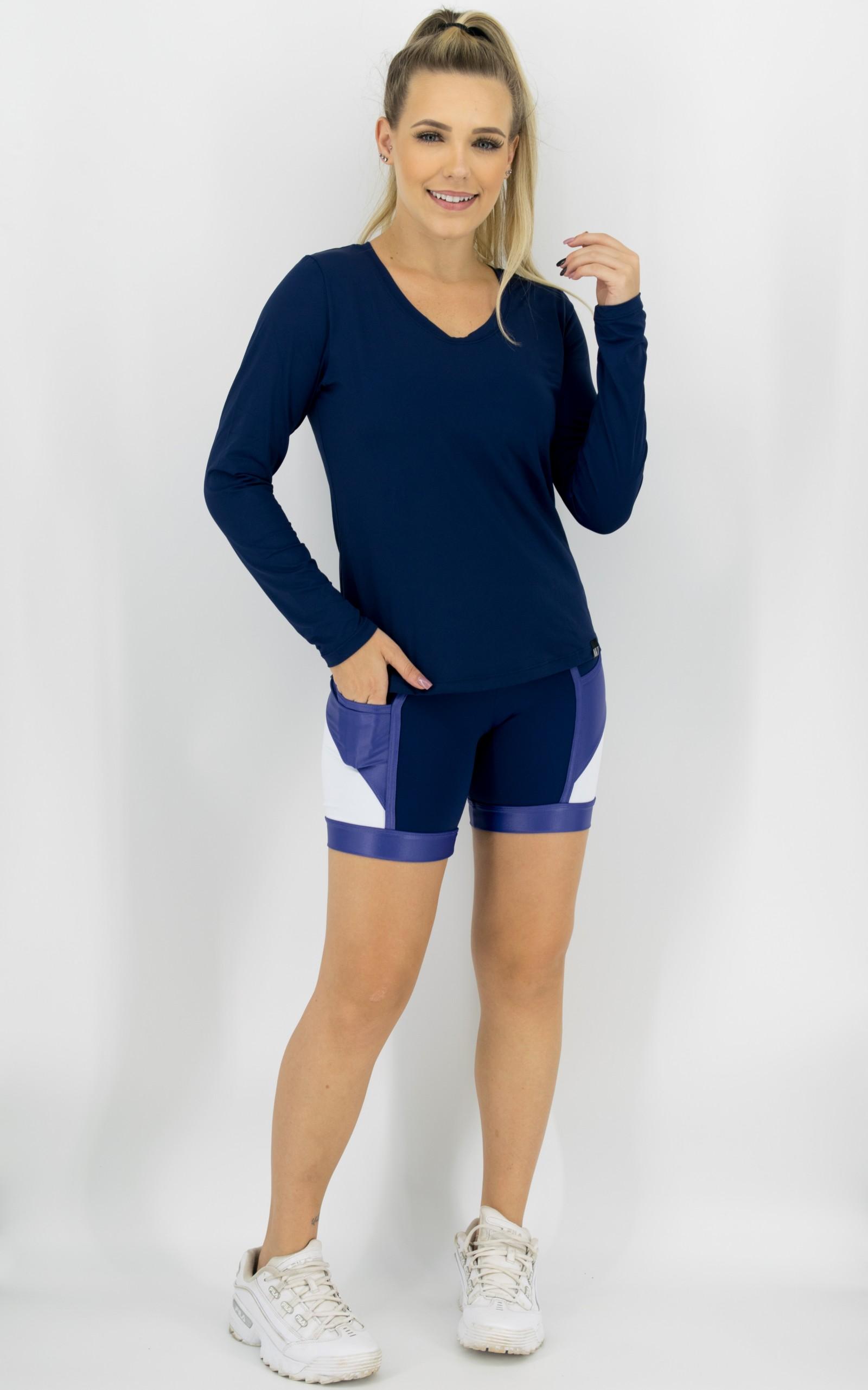 Bermuda Experience Marinho, Coleção Move Your Body - NKT Fitwear Moda Fitness