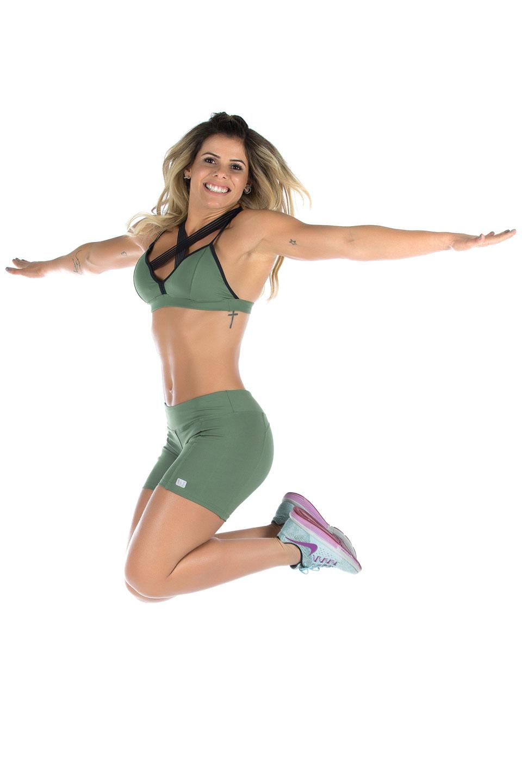 Shorts NKT Verde Musgo, Coleção Mulheres Reais - NKT Fitwear Moda Fitness