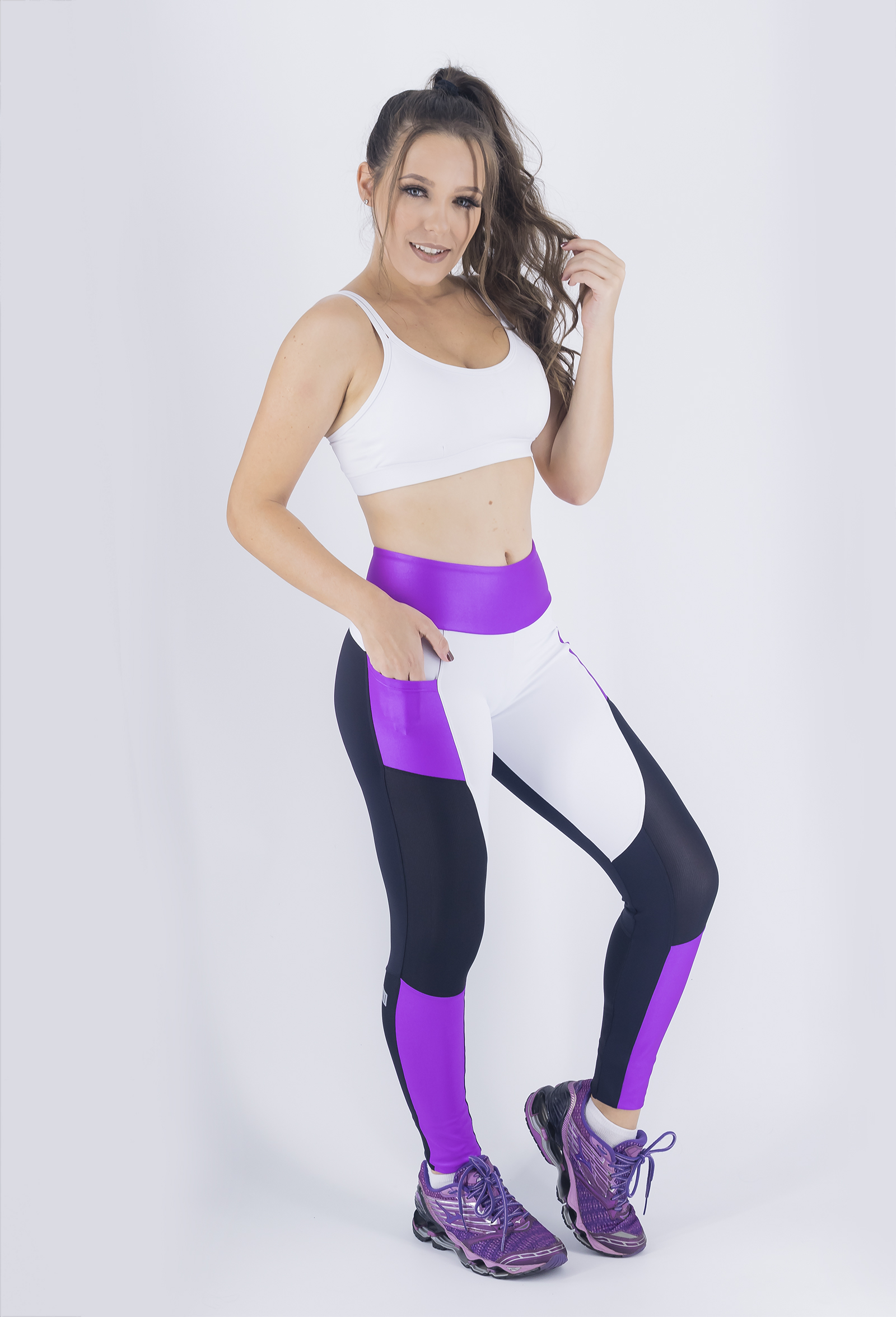 Legging Win Roxa, Coleção Just For You - NKT Fitwear Moda Fitness