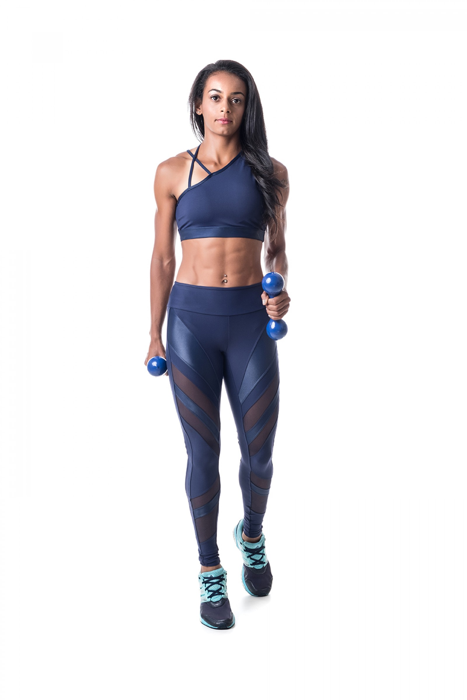 Top Instigate Marinho, Coleção Challenge - NKT Fitwear Moda Fitness