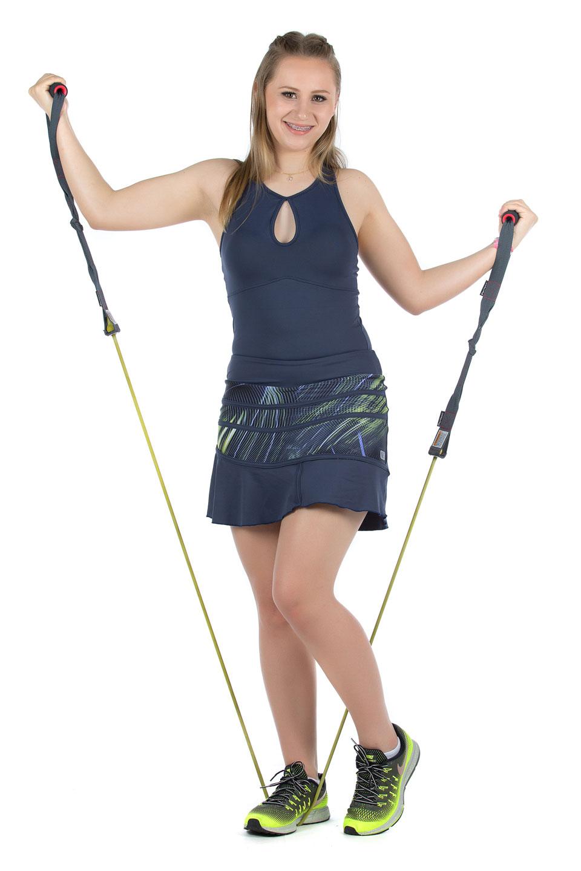 Saia Shorts Conceito Hit (Marinho), Coleção Mulheres Reais - NKT Fitwear Moda Fitness