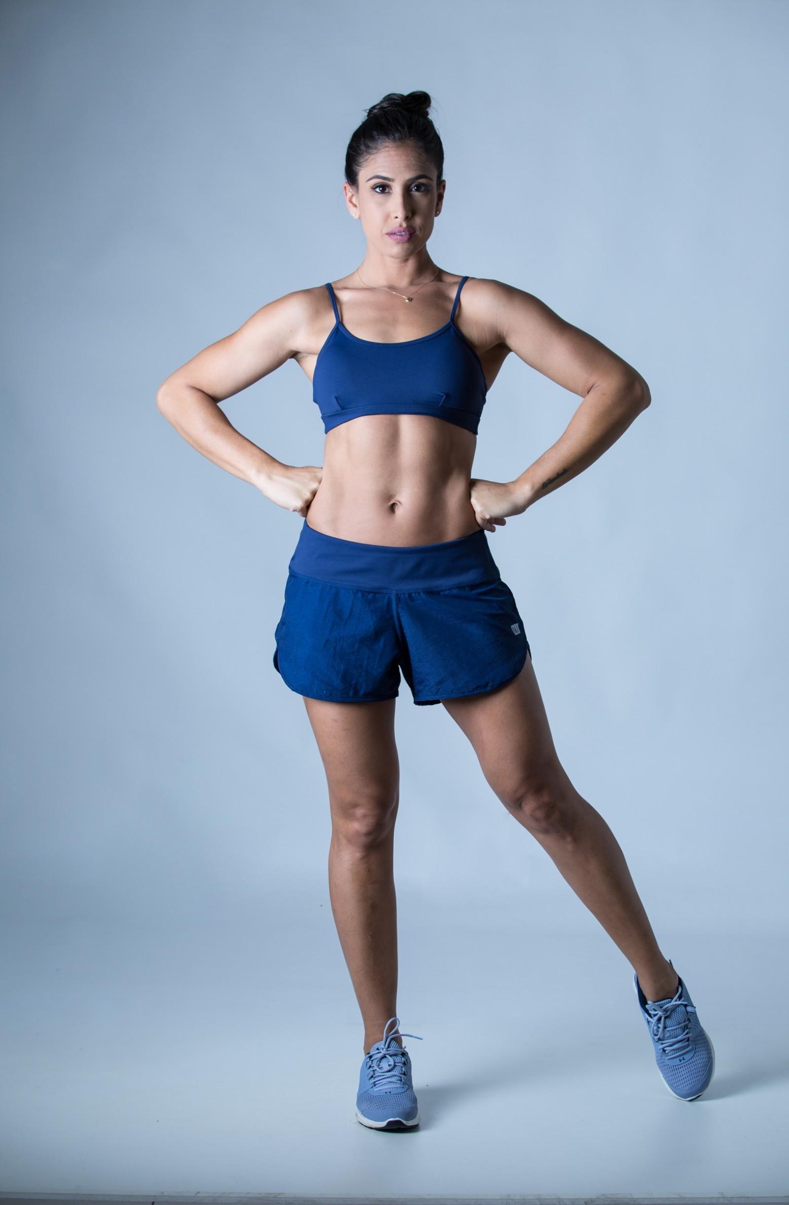 Top Profusion Marinho, Coleção Plenitude - NKT Fitwear Moda Fitness
