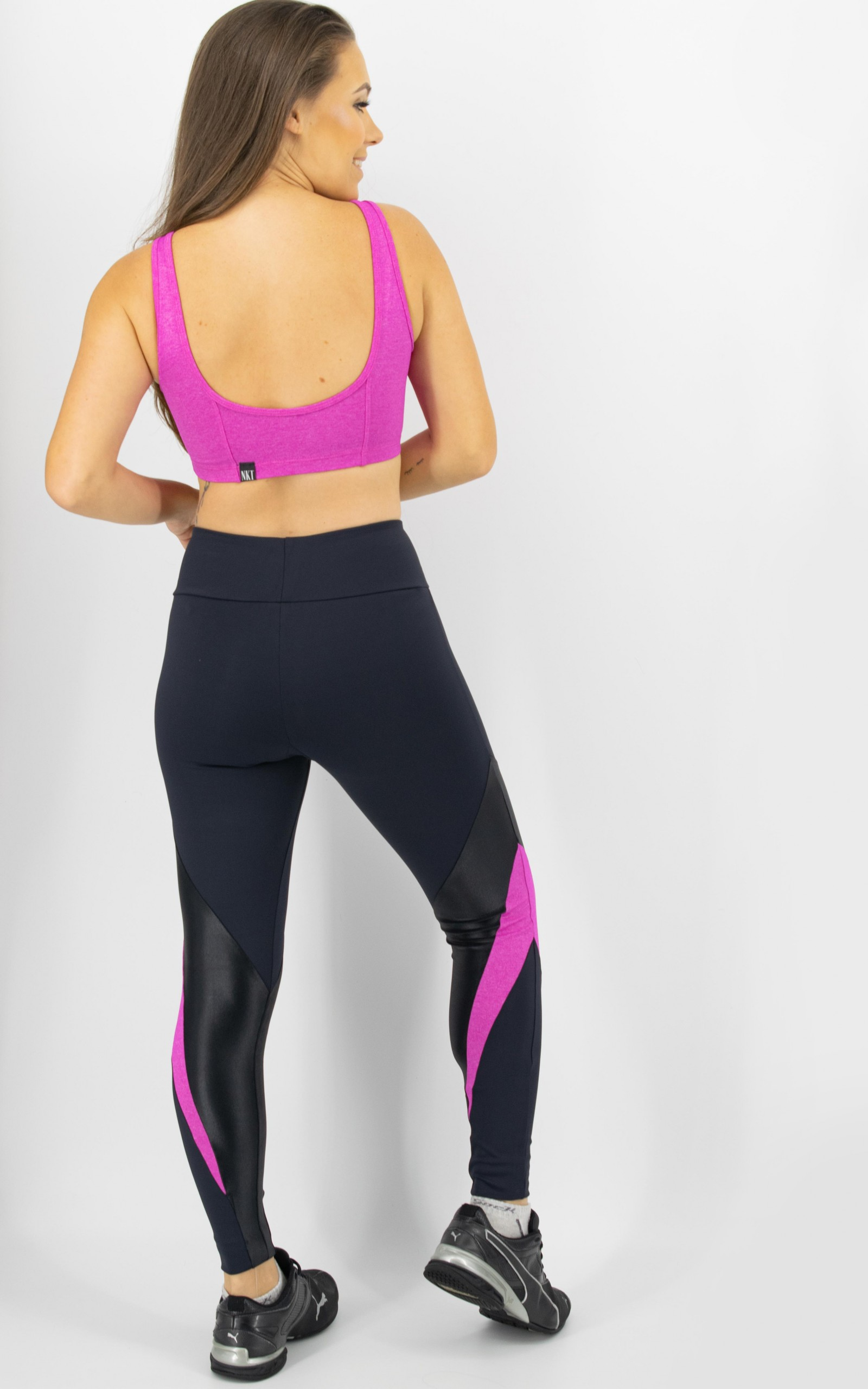 Top Arrow Pink, Coleção Move Your Body - NKT Fitwear Moda Fitness