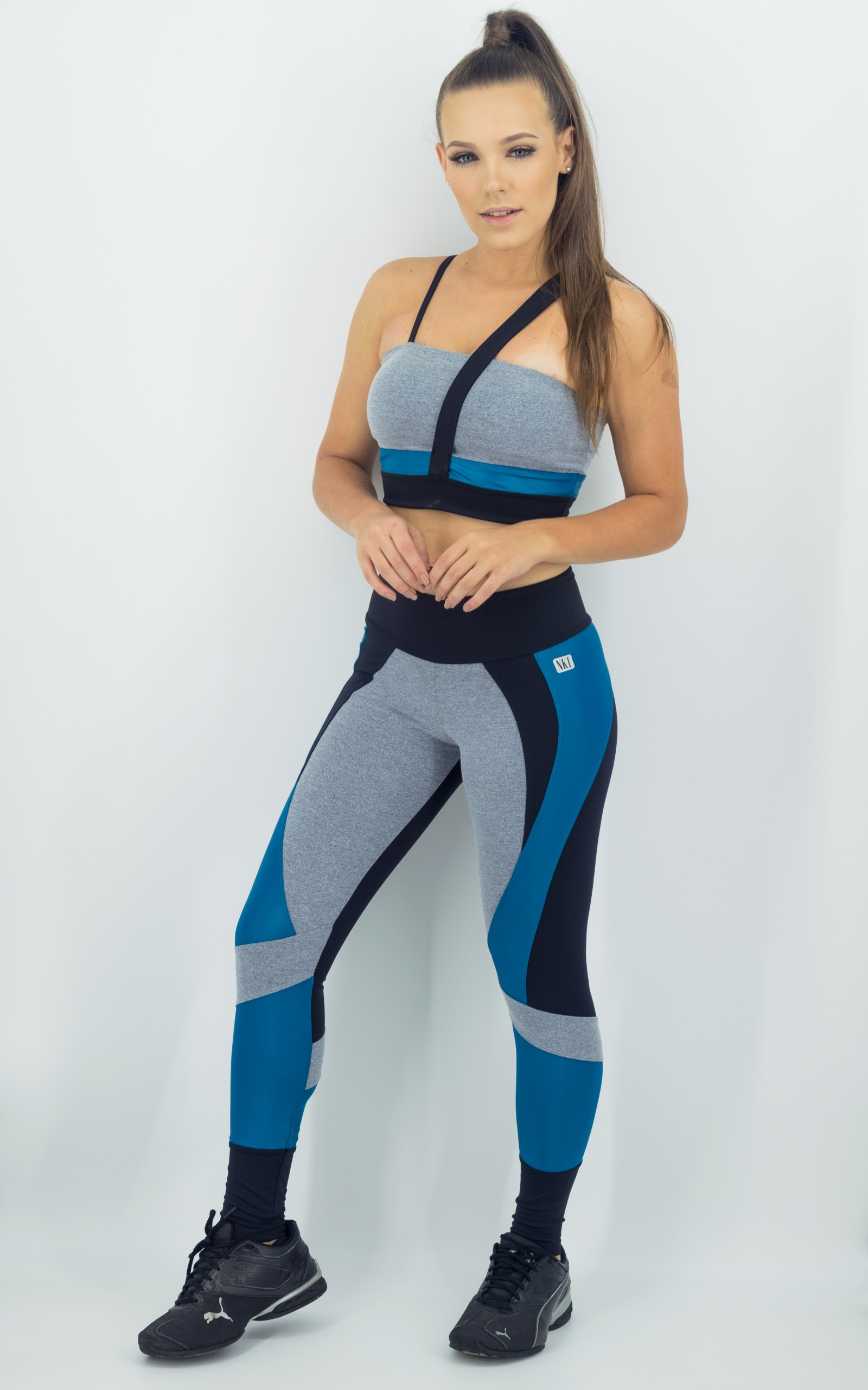 Legging Fullness Petróleo, Coleção Move Your Body - NKT Fitwear Moda Fitness