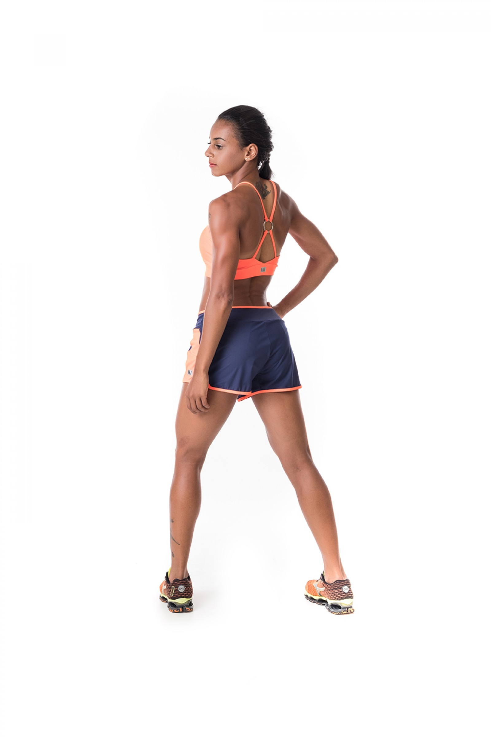 Shorts Race Marinho, Coleção Challenge - NKT Fitwear Moda Fitness