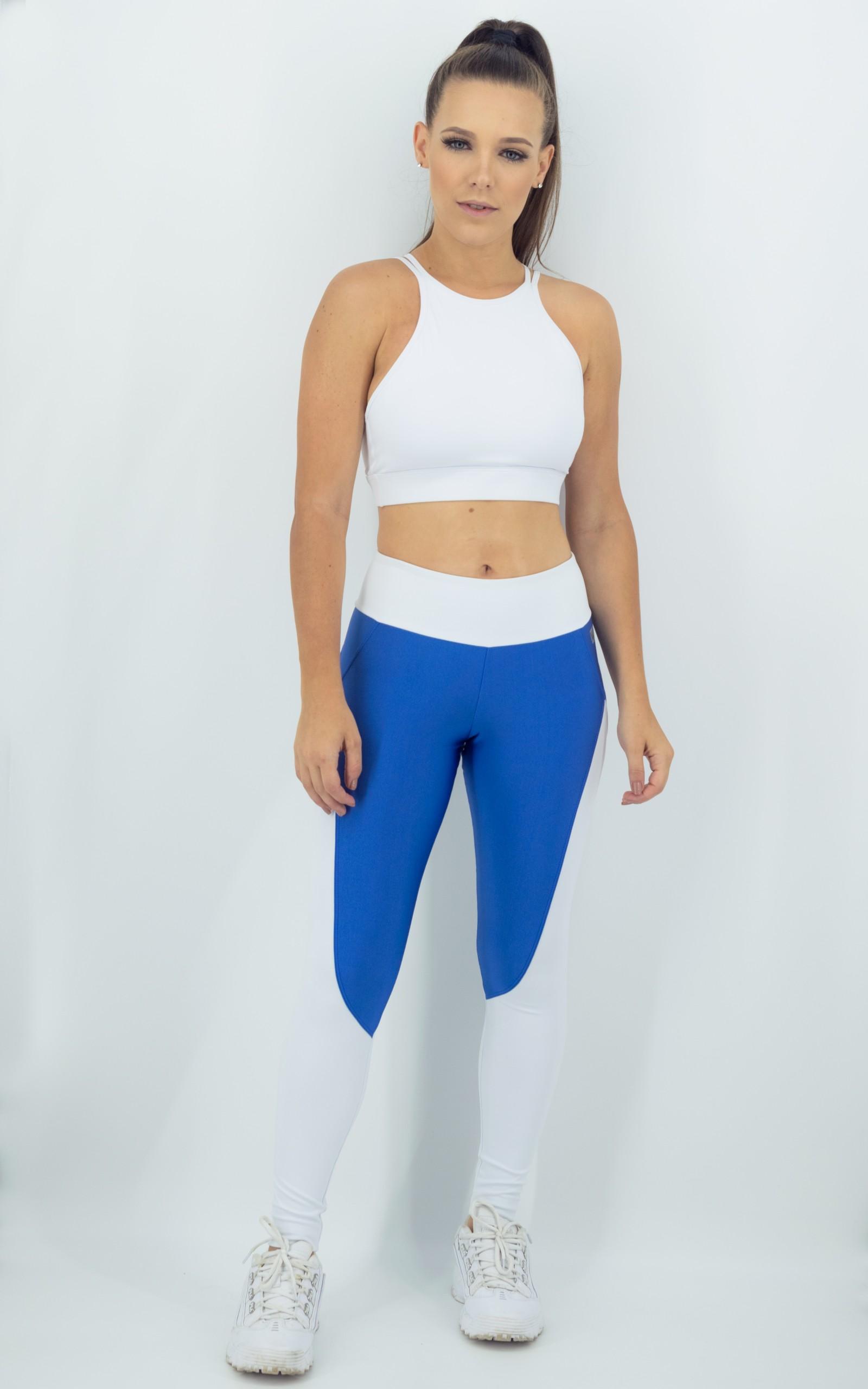 Legging Heart Azul Céu, Coleção Move Your Body - NKT Fitwear Moda Fitness