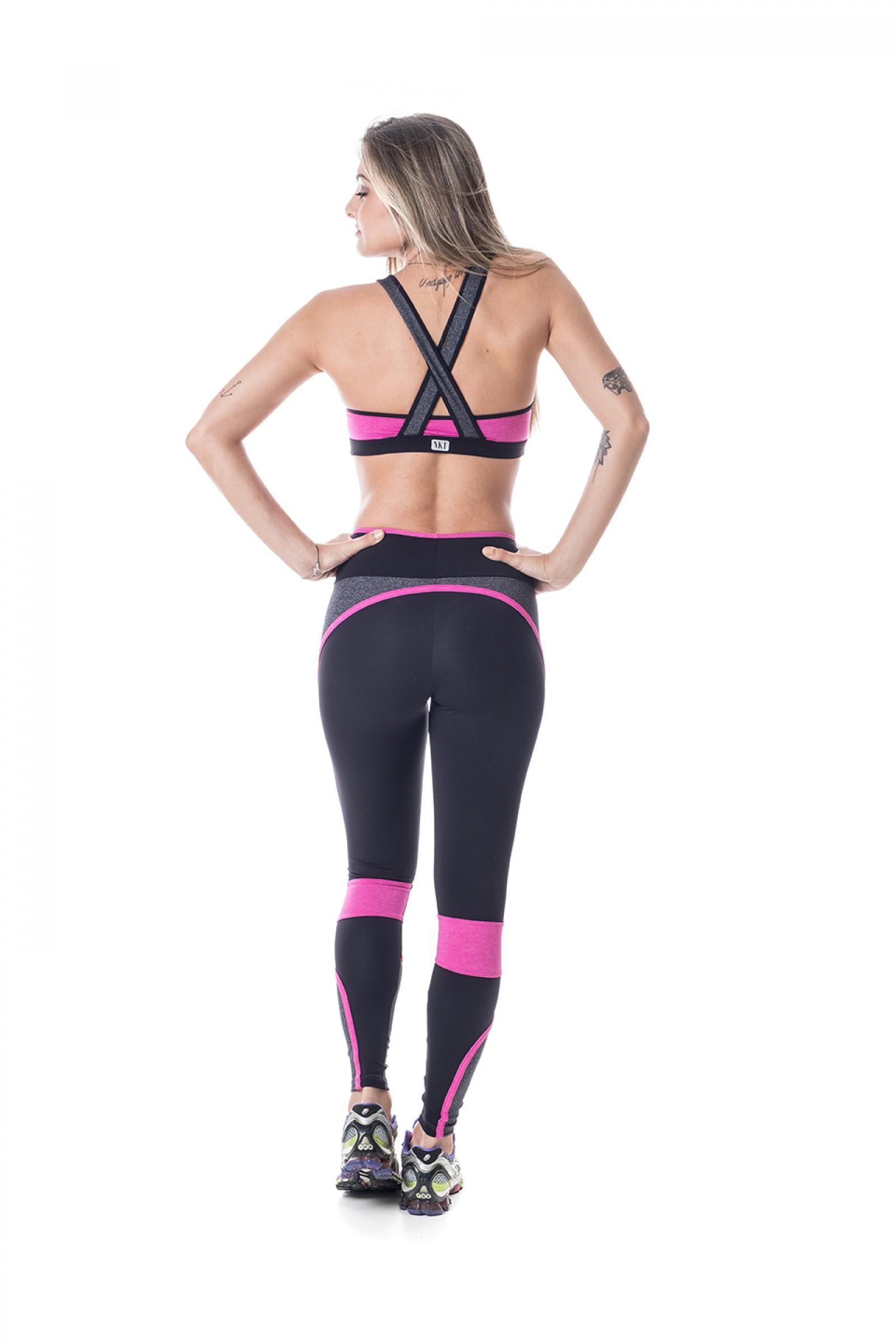 Top Brave Rose, Coleção Challenge - NKT Fitwear Moda Fitness