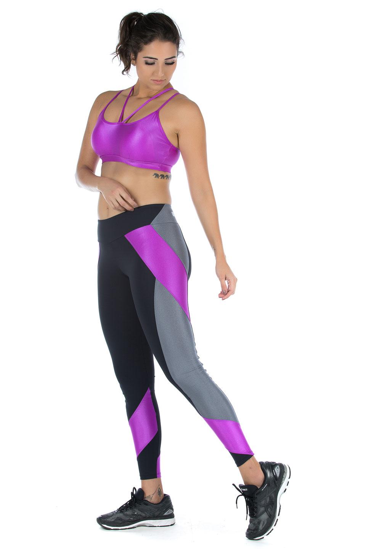 Legging Modern Roxo, Coleção Mulheres Reais - NKT Fitwear Moda Fitness