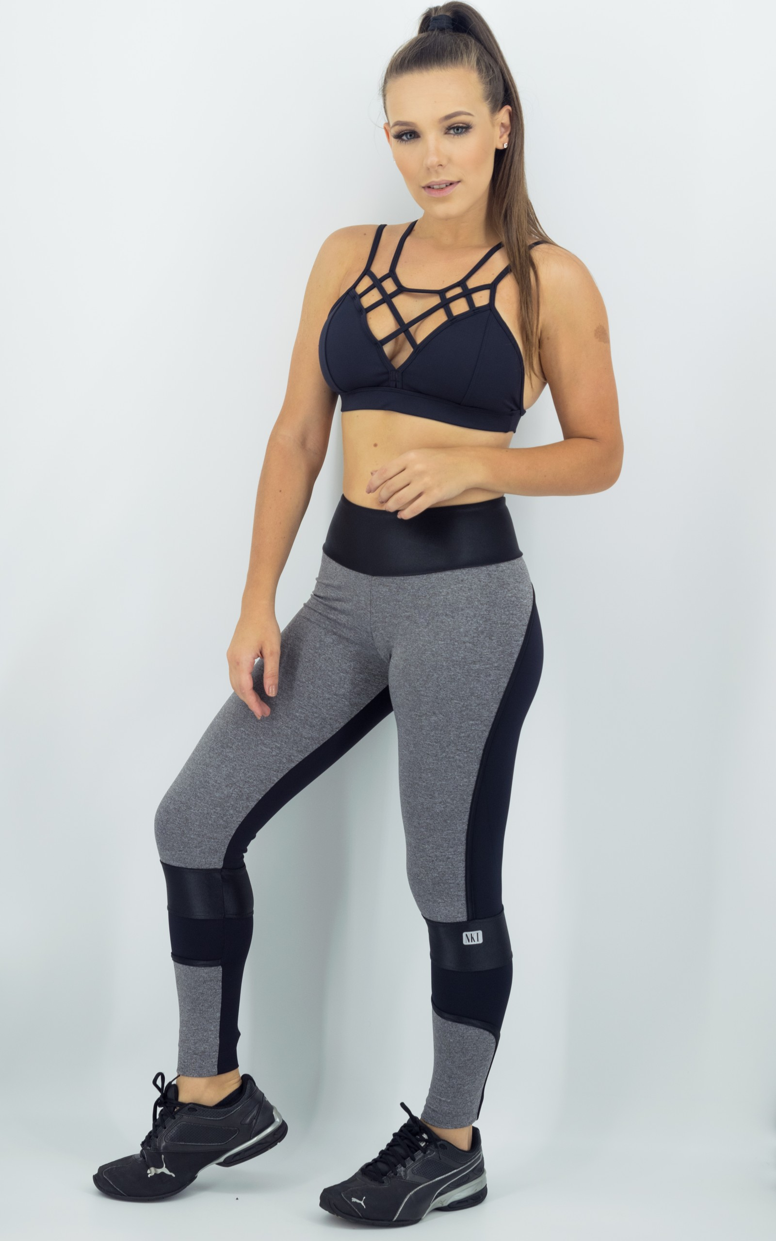Legging Brave Preto, Coleção Move Your Body - NKT Fitwear Moda Fitness