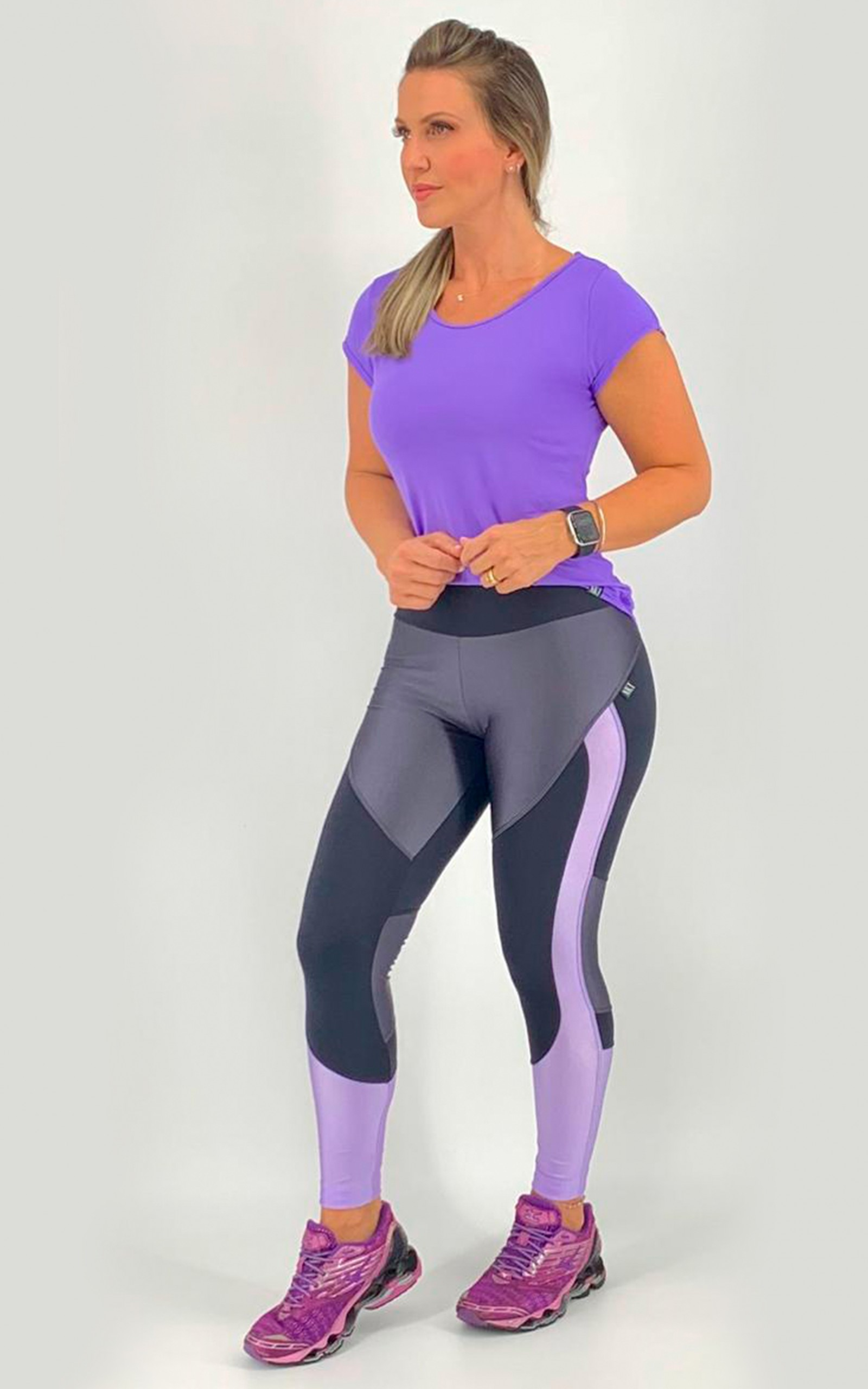 Legging Moviment Lilás, Coleção Move Your Body - NKT Fitwear Moda Fitness