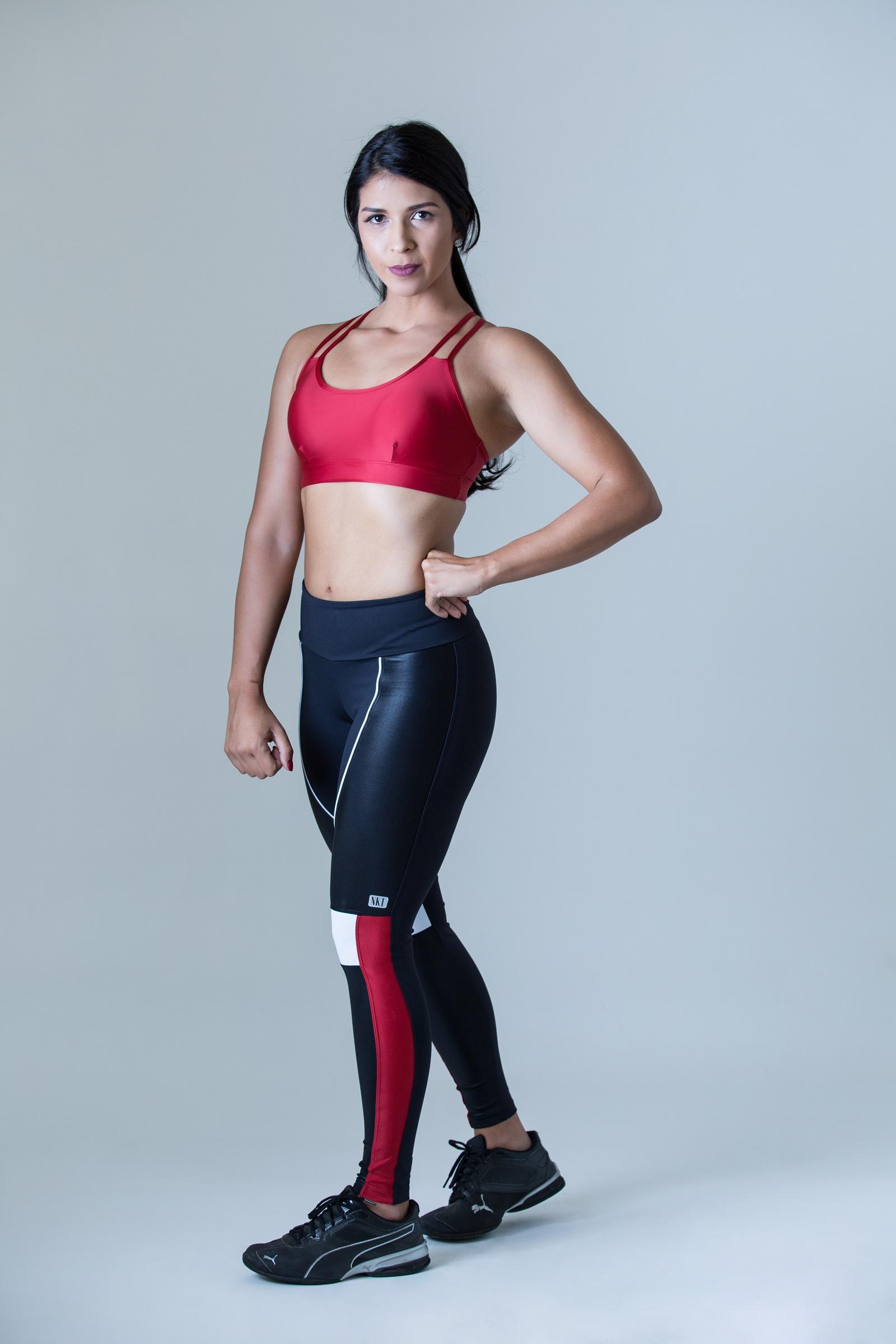 Top Perfection Vermelho, Coleção Plenitude - NKT Fitwear Moda Fitness