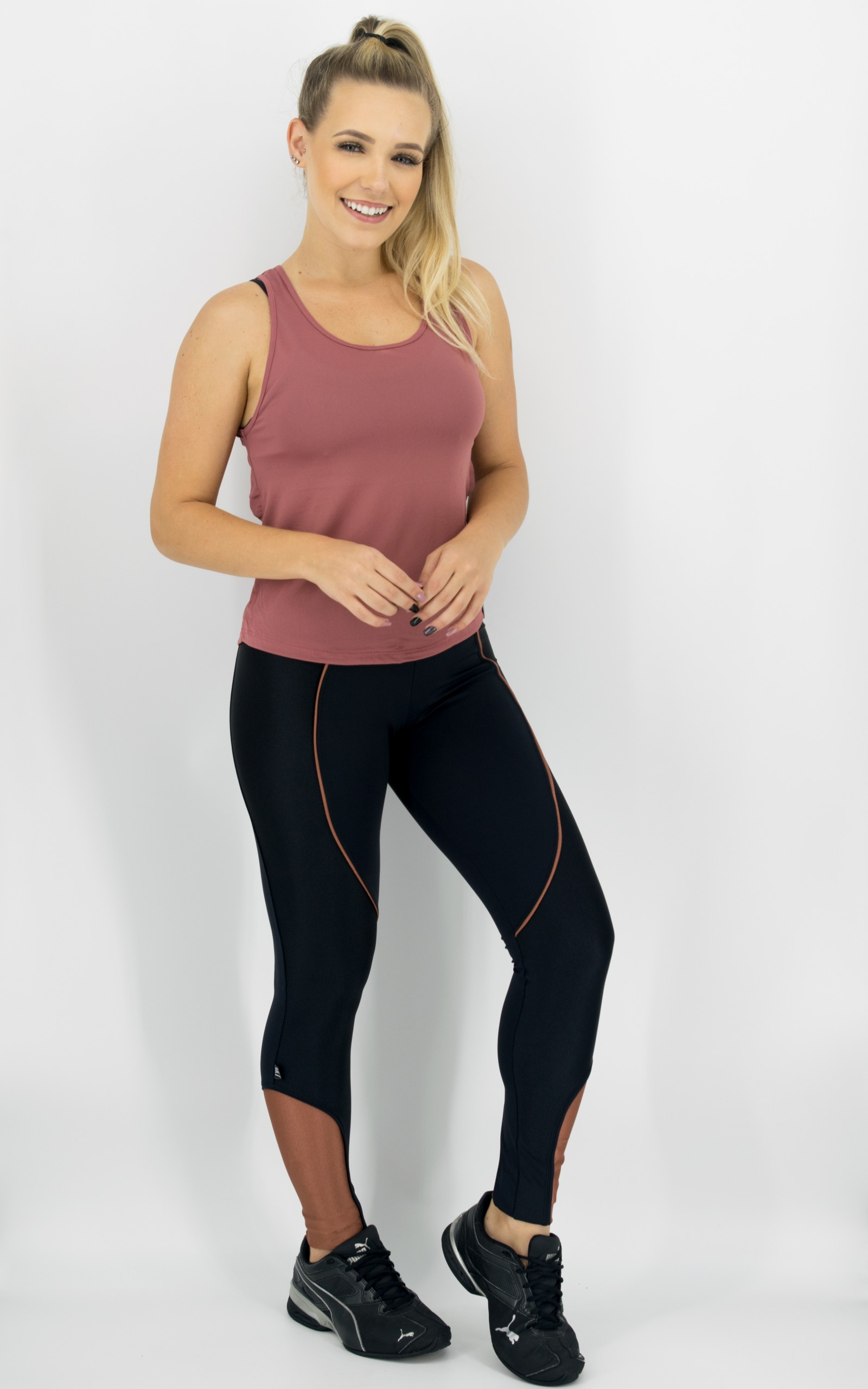 Legging Circle Cobre , Coleção Move Your Body - NKT Fitwear Moda Fitness