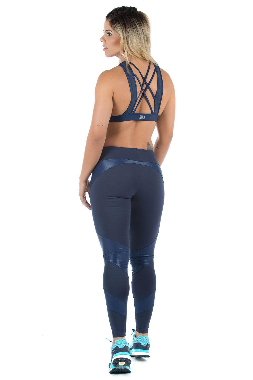 Legging Fearless Marinho, Coleção Mulheres Reais - NKT Fitwear Moda Fitness
