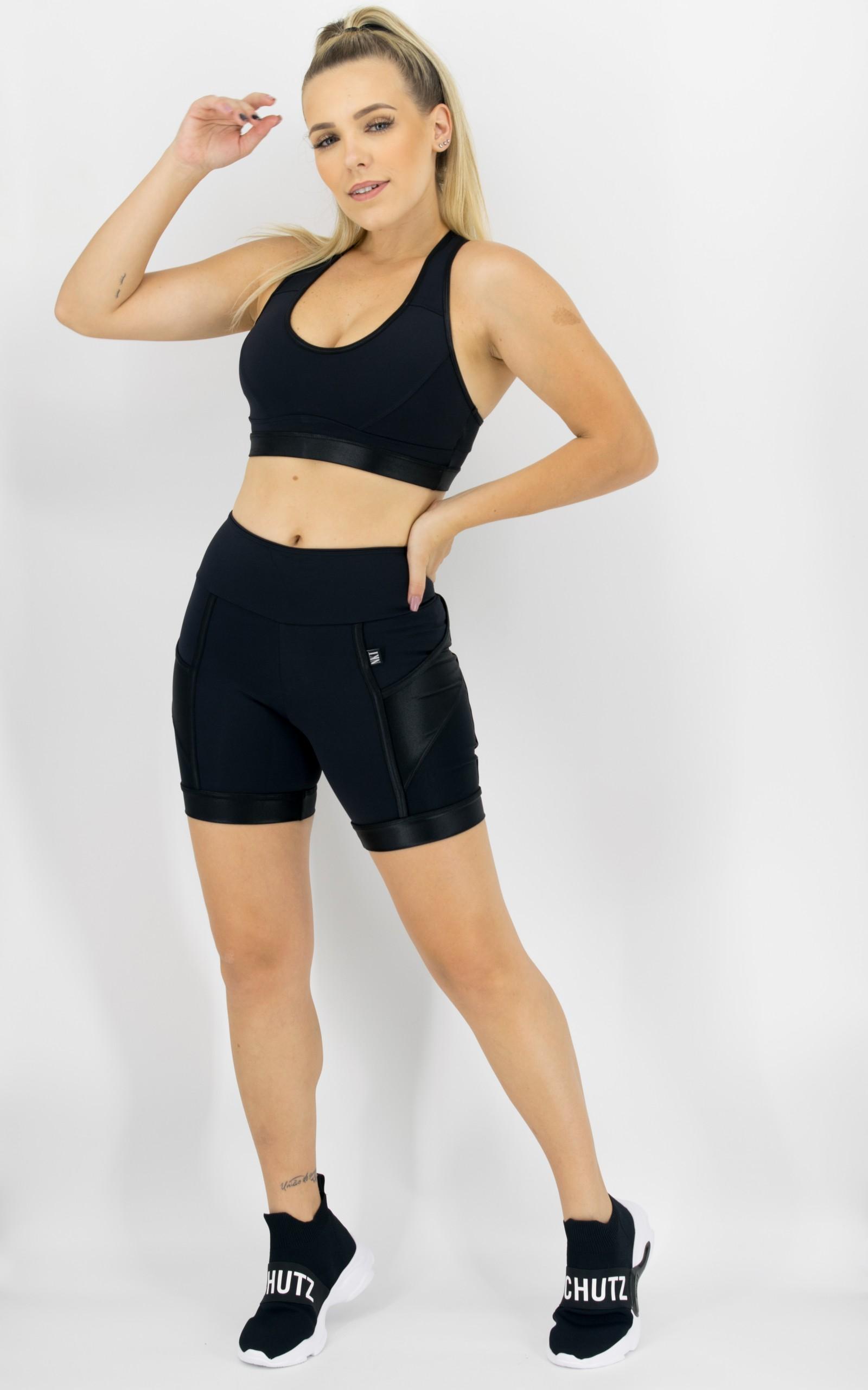 Bermuda Experience Preta, Coleção Move Your Body - NKT Fitwear Moda Fitness