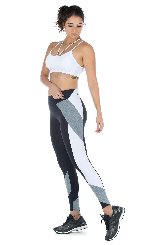 Legging Modern Branco, Coleção Mulheres Reais - NKT Fitwear Moda Fitness