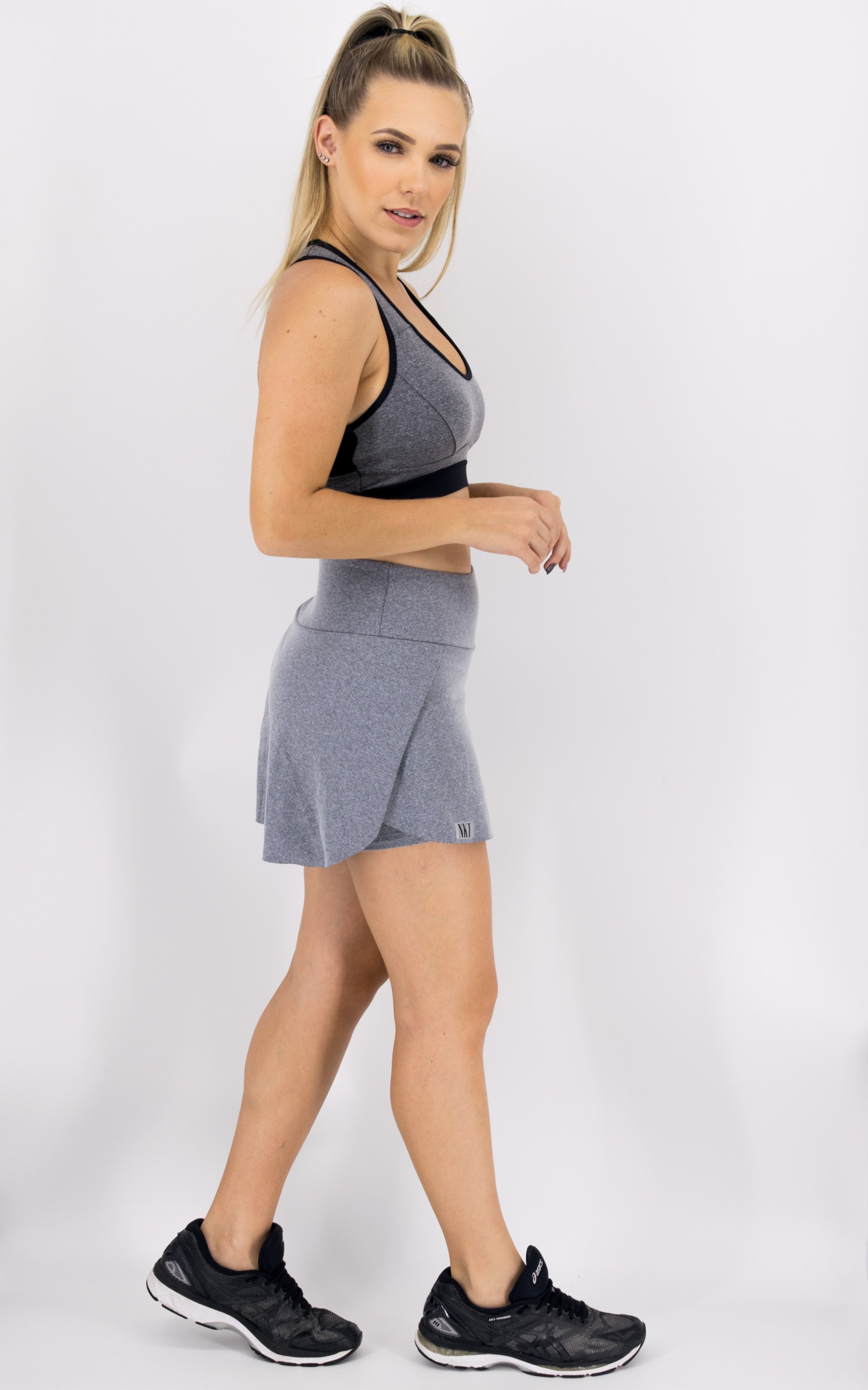 Saia Shorts Magic Mescla, Coleção Move Your Body - NKT Fitwear Moda Fitness