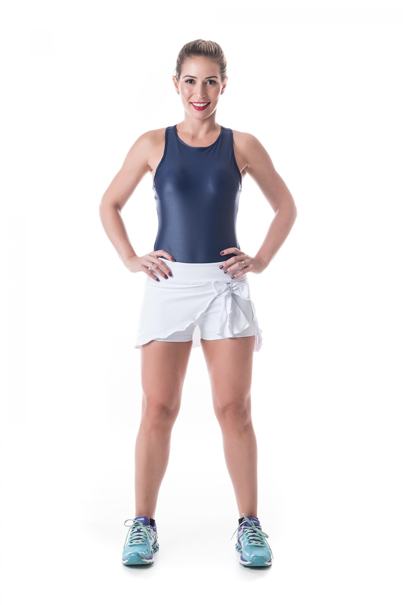 Body Face Marinho Cirre, Coleção Challenge - NKT Fitwear Moda Fitness