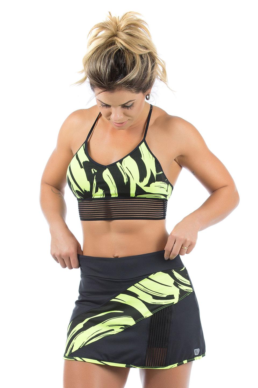 Saia Shorts Objective Neon, Coleção Mulheres Reais - NKT Fitwear Moda Fitness