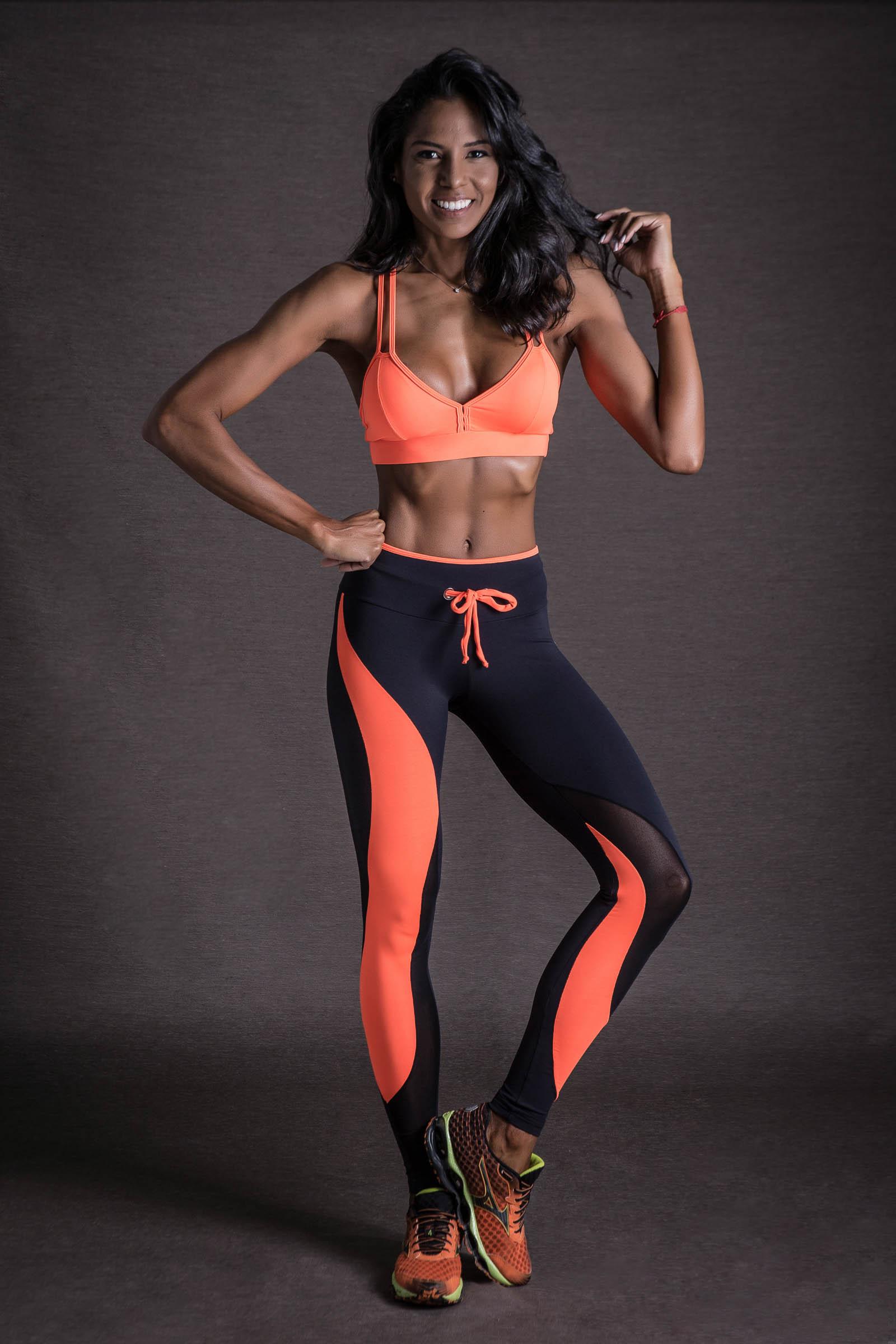 Legging Evolution Laranja Neon, Coleção You can - NKT Fitwear Moda Fitness