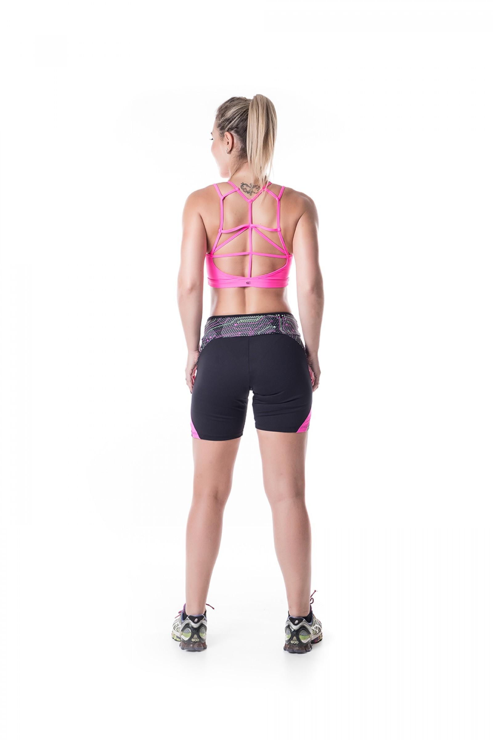 Bermuda Start Reflet, Coleção Challenge - NKT Fitwear Moda Fitness